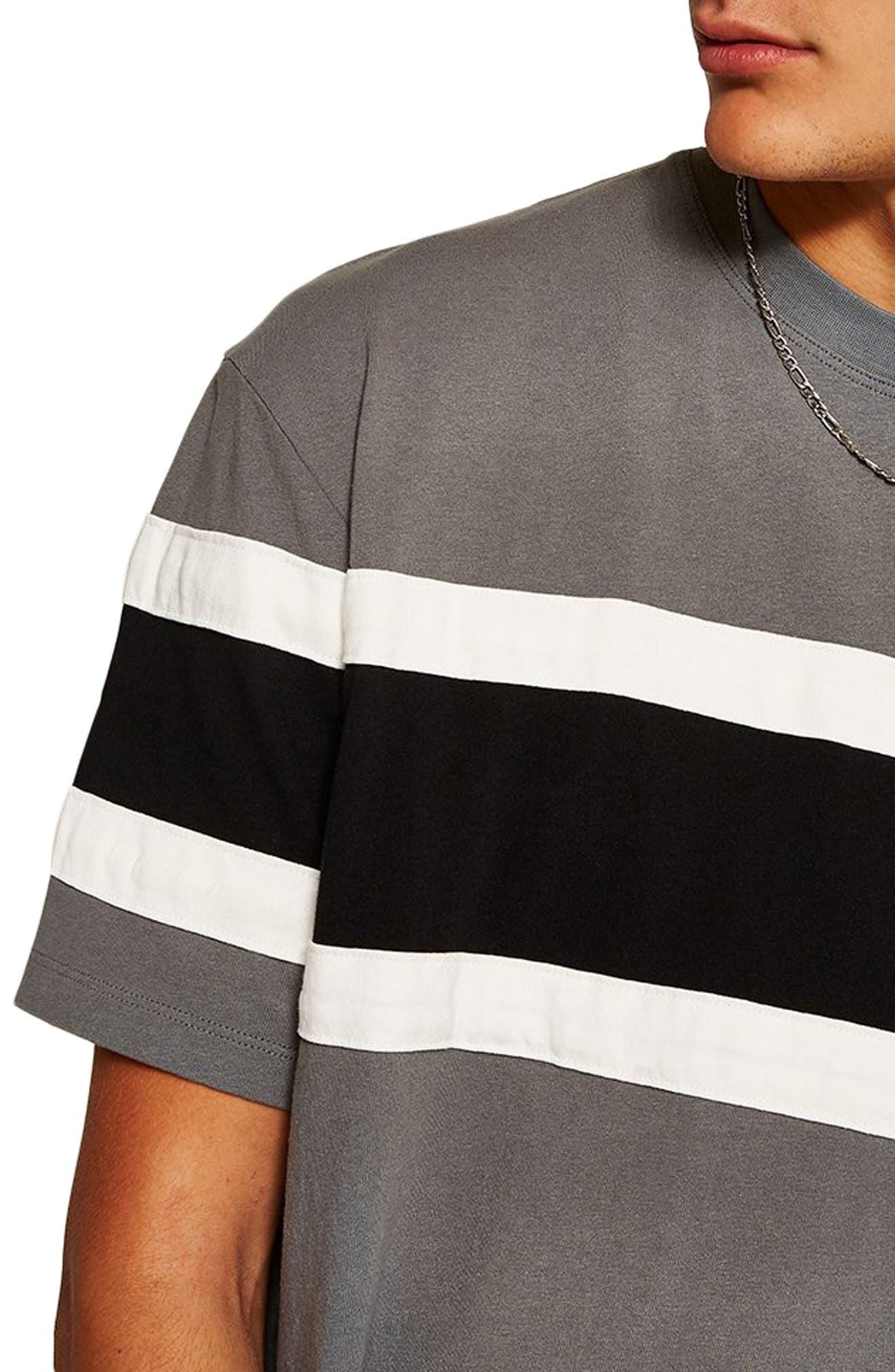 Oversize Colorblock T-Shirt,                             Alternate thumbnail 3, color,                             BLACK MULTI