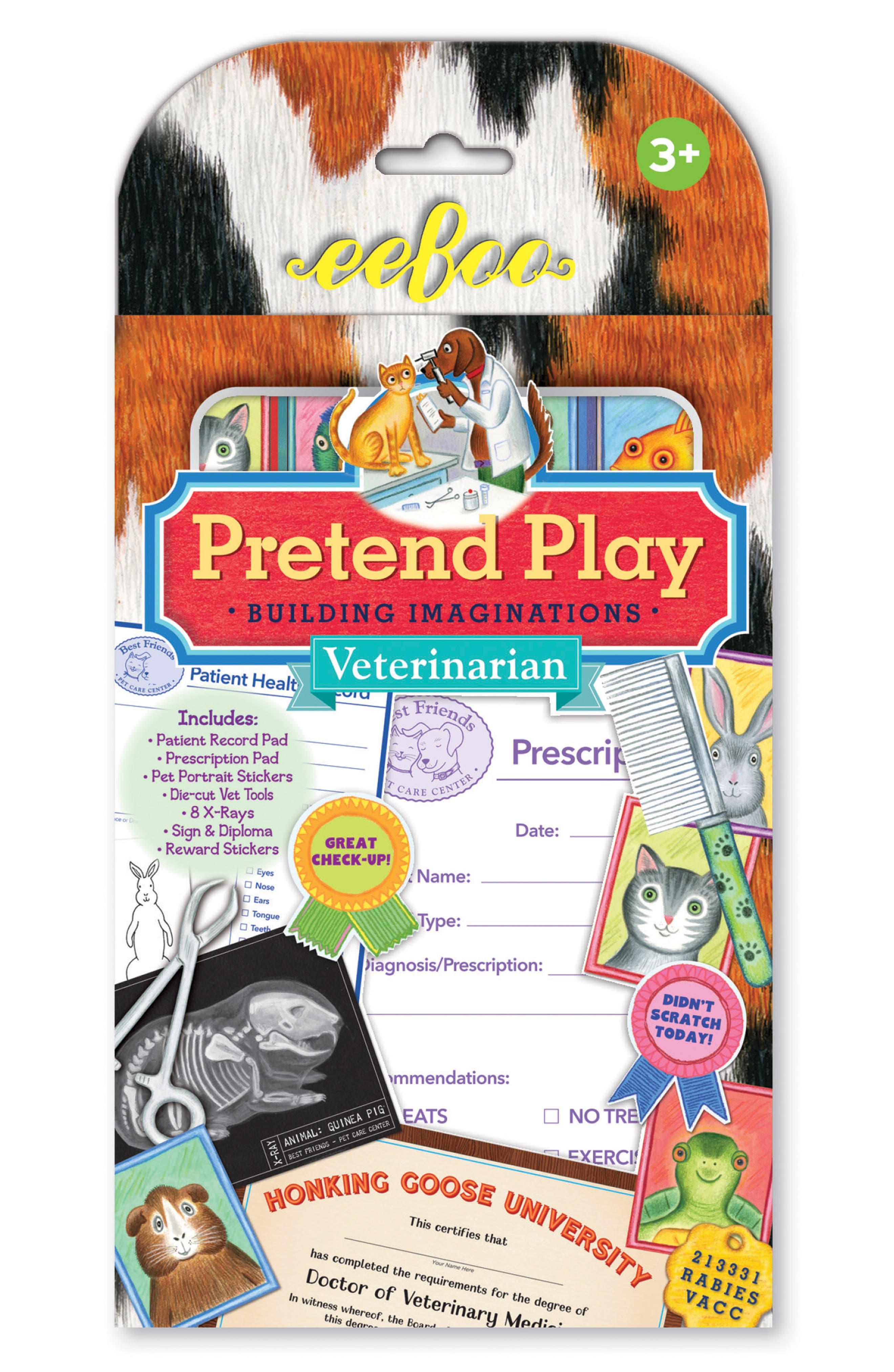 Veterinarian Pretend Play Set,                         Main,                         color, RED