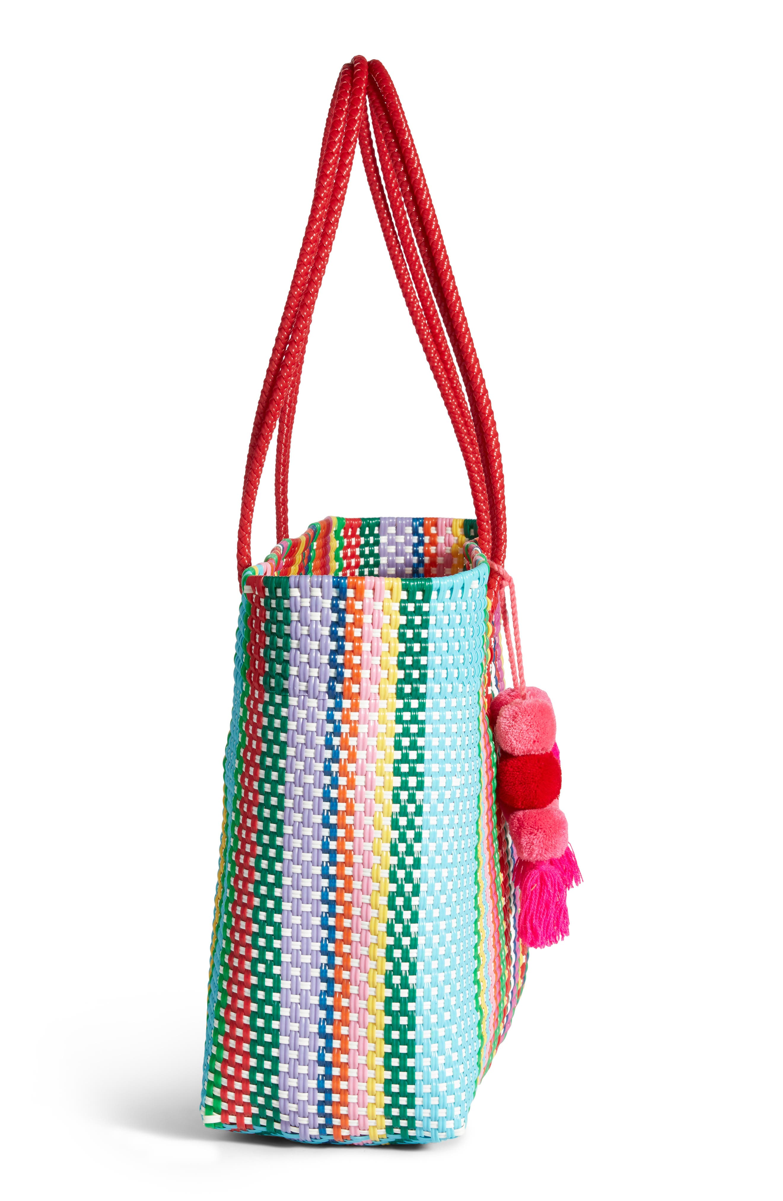 Large Stella Long Handle Tote,                             Alternate thumbnail 5, color,                             MULTI