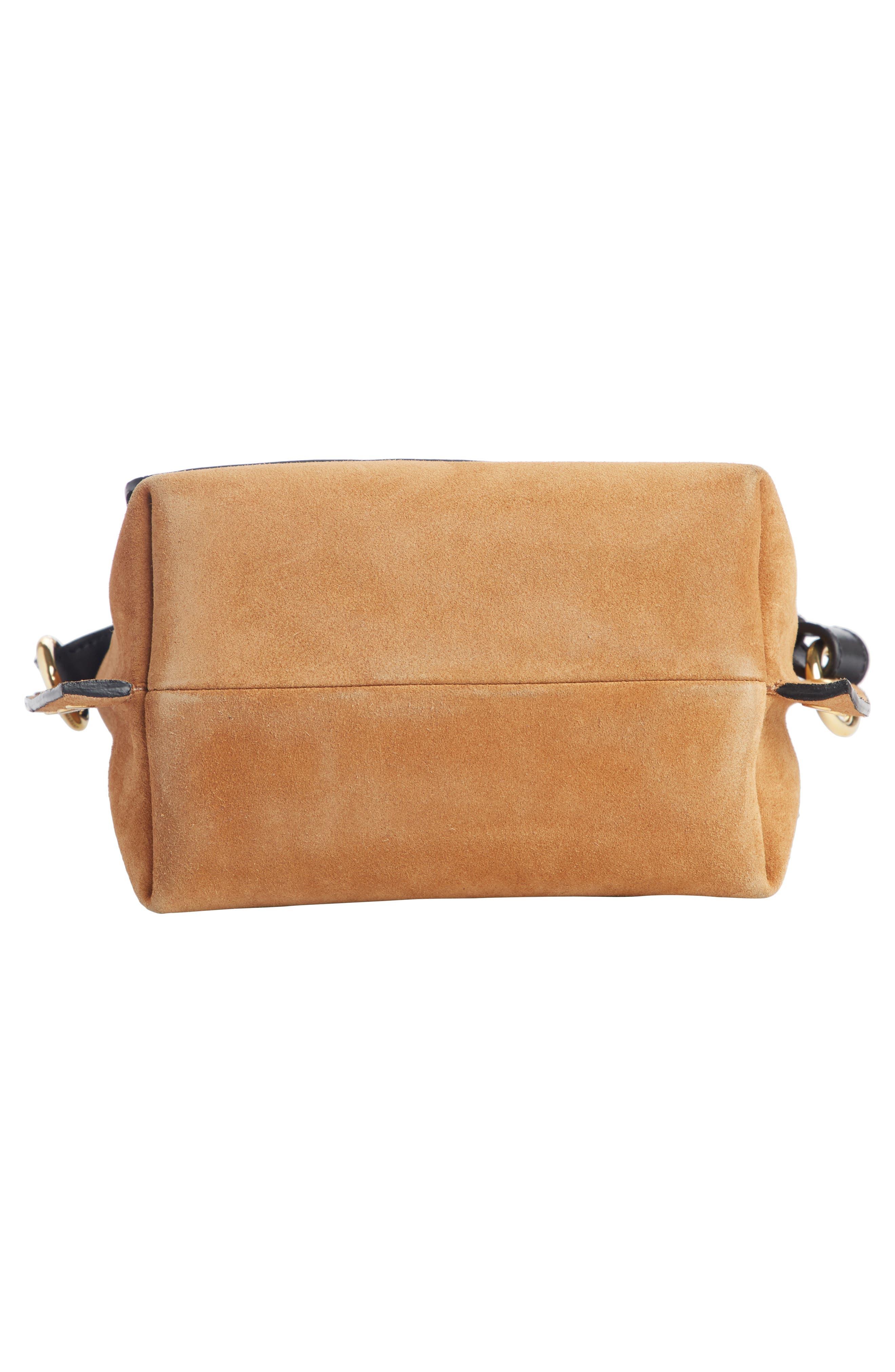 Kleny Colorblock Leather & Suede Shoulder Bag,                             Alternate thumbnail 4, color,                             CAMEL