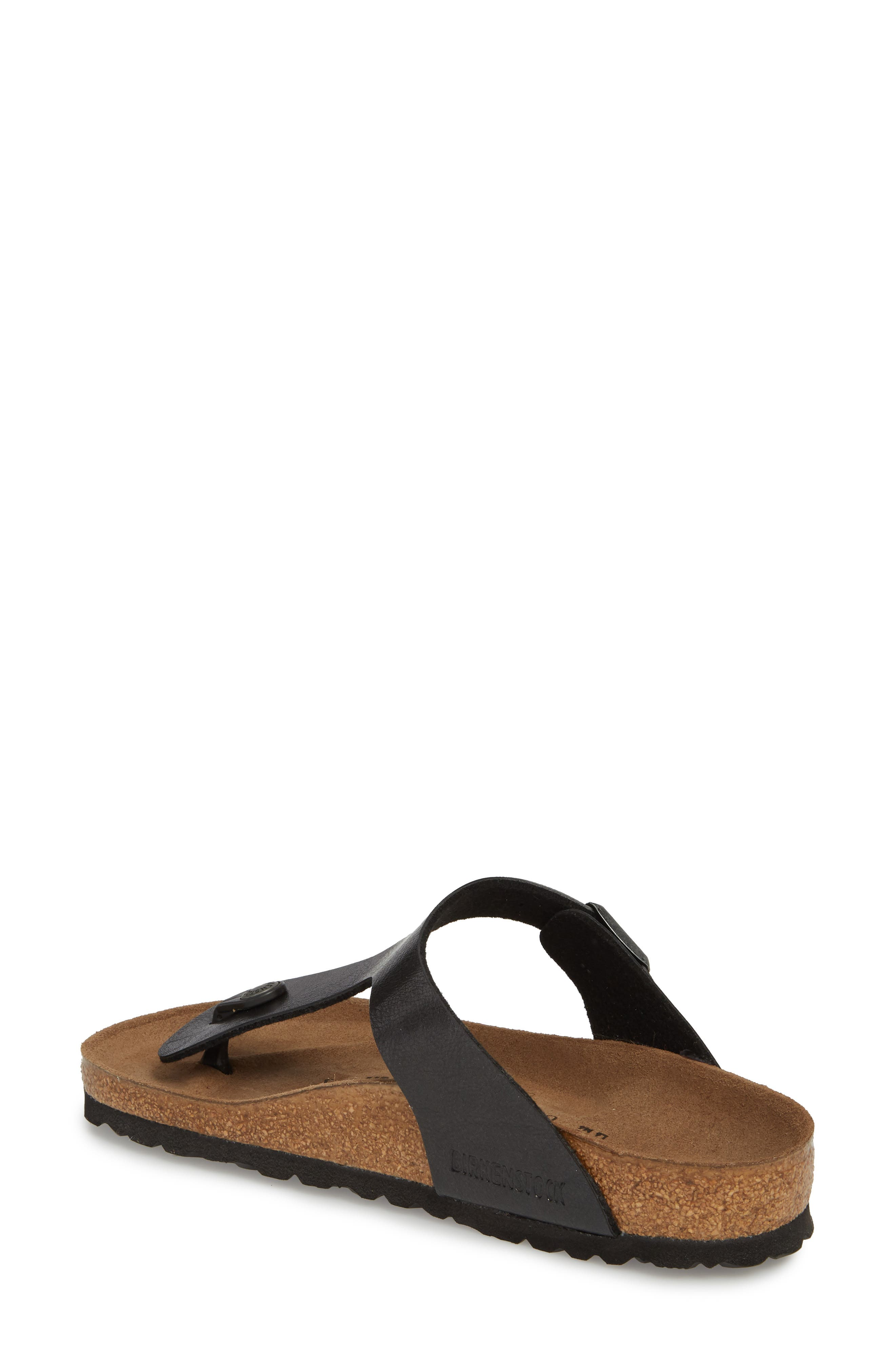 BIRKENSTOCK,                             Gizeh Birko-Flor<sup>™</sup> Thong,                             Alternate thumbnail 2, color,                             LICORICE