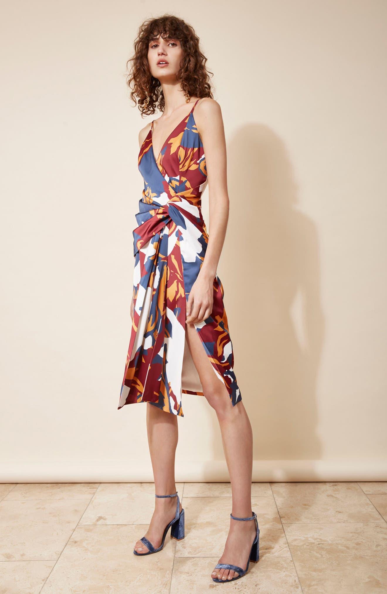 C/MEO COLLECTIVE,                             Vanish Surplice Dress,                             Alternate thumbnail 7, color,                             400