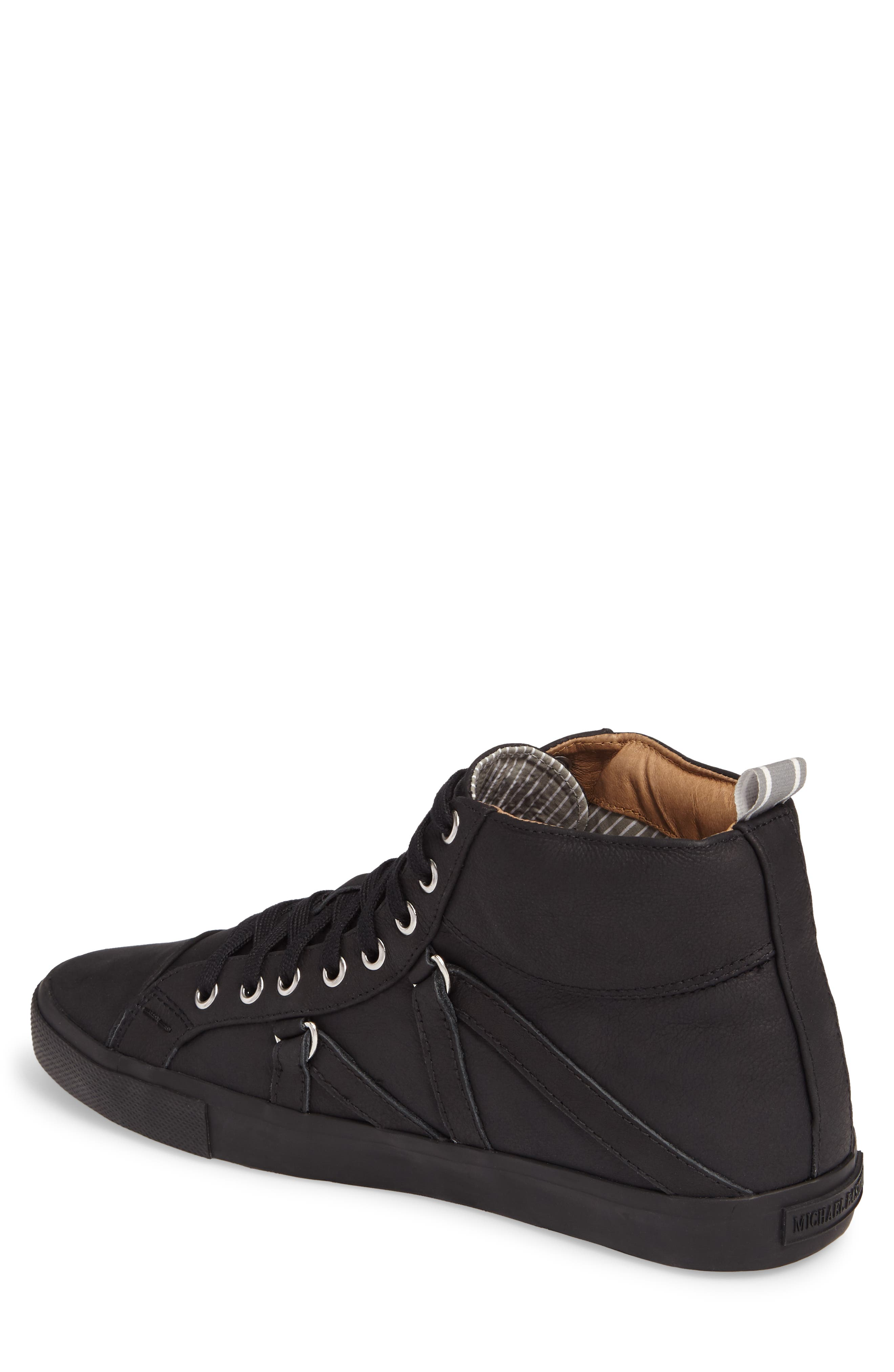 Signature High Top Sneaker,                             Alternate thumbnail 2, color,                             NERO LEATHER