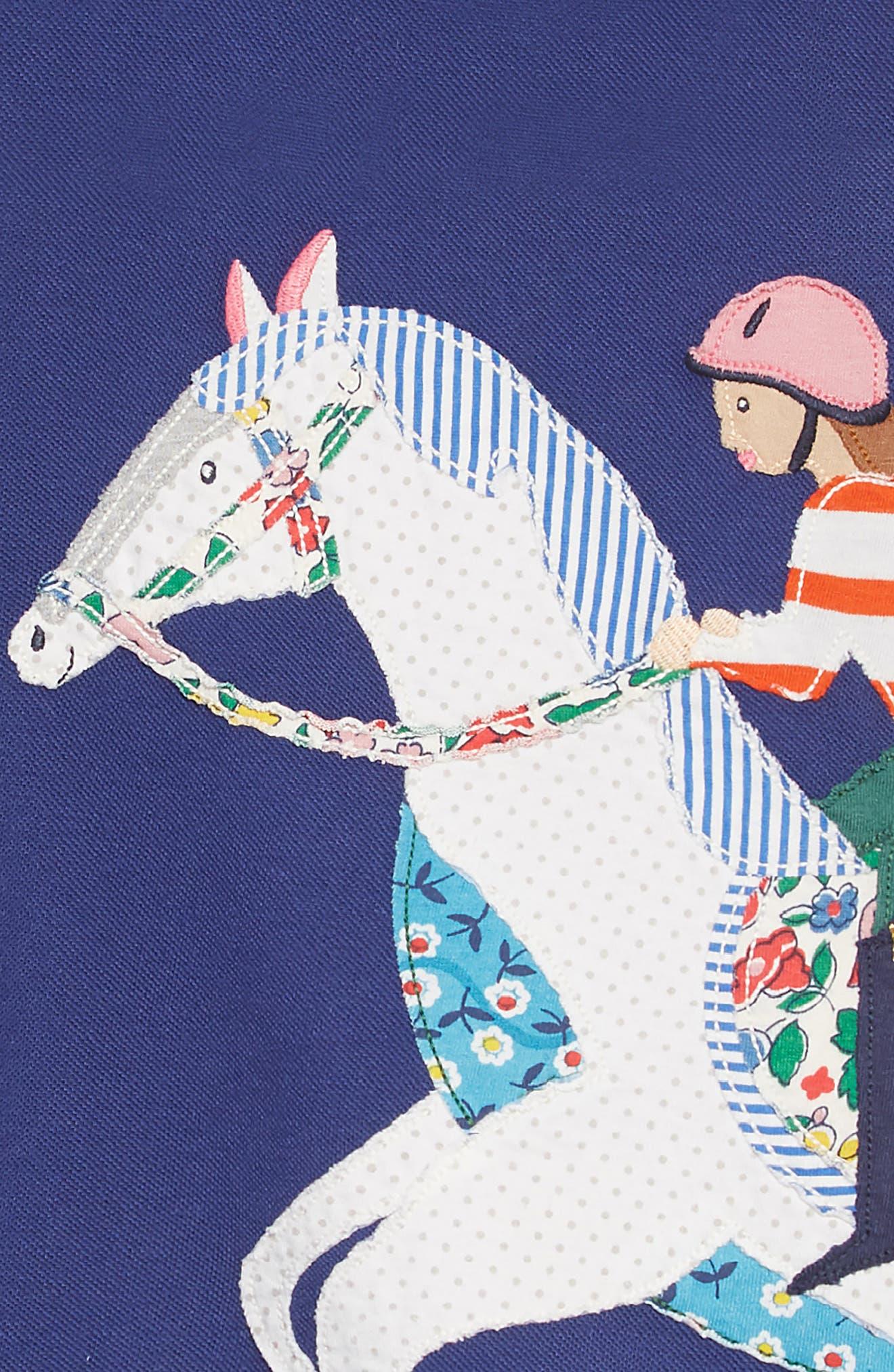 Appliqué Polo Dress,                             Alternate thumbnail 3, color,                             404