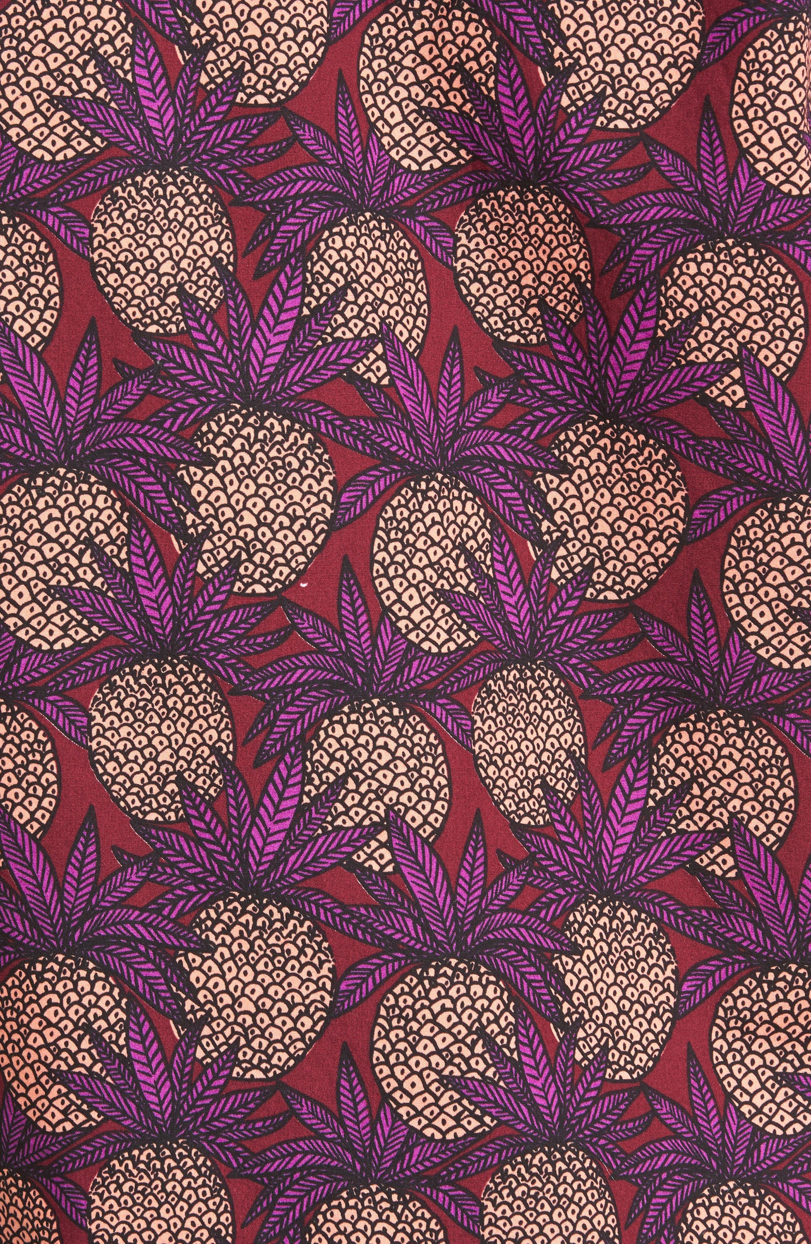 Slim Fit Pineapple Sport Shirt,                             Alternate thumbnail 5, color,