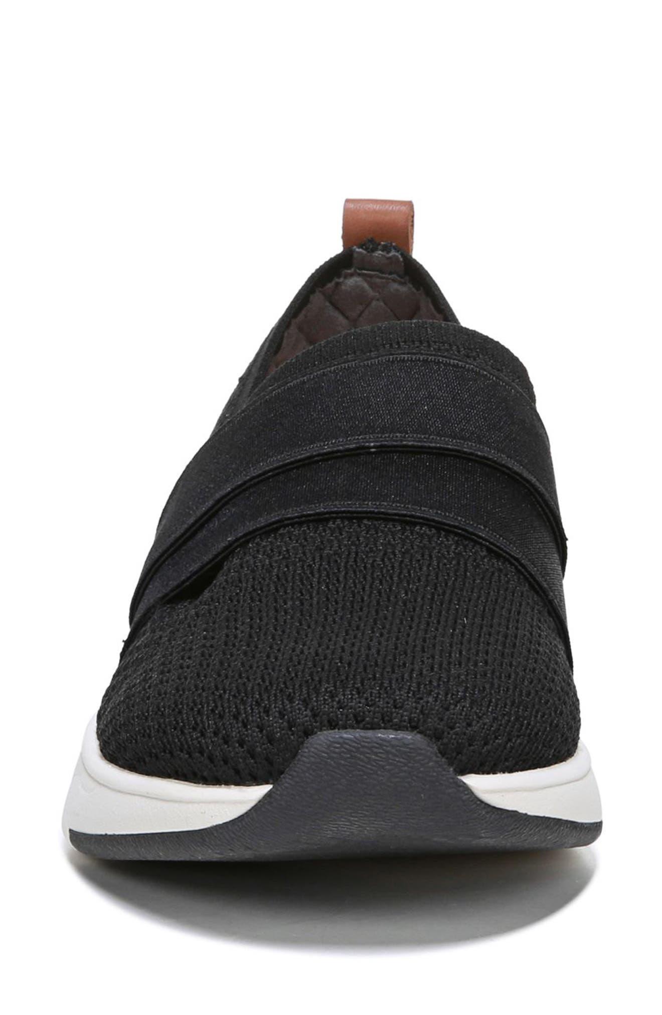 Slay All Day Sneaker,                             Alternate thumbnail 4, color,                             BLACK FABRIC