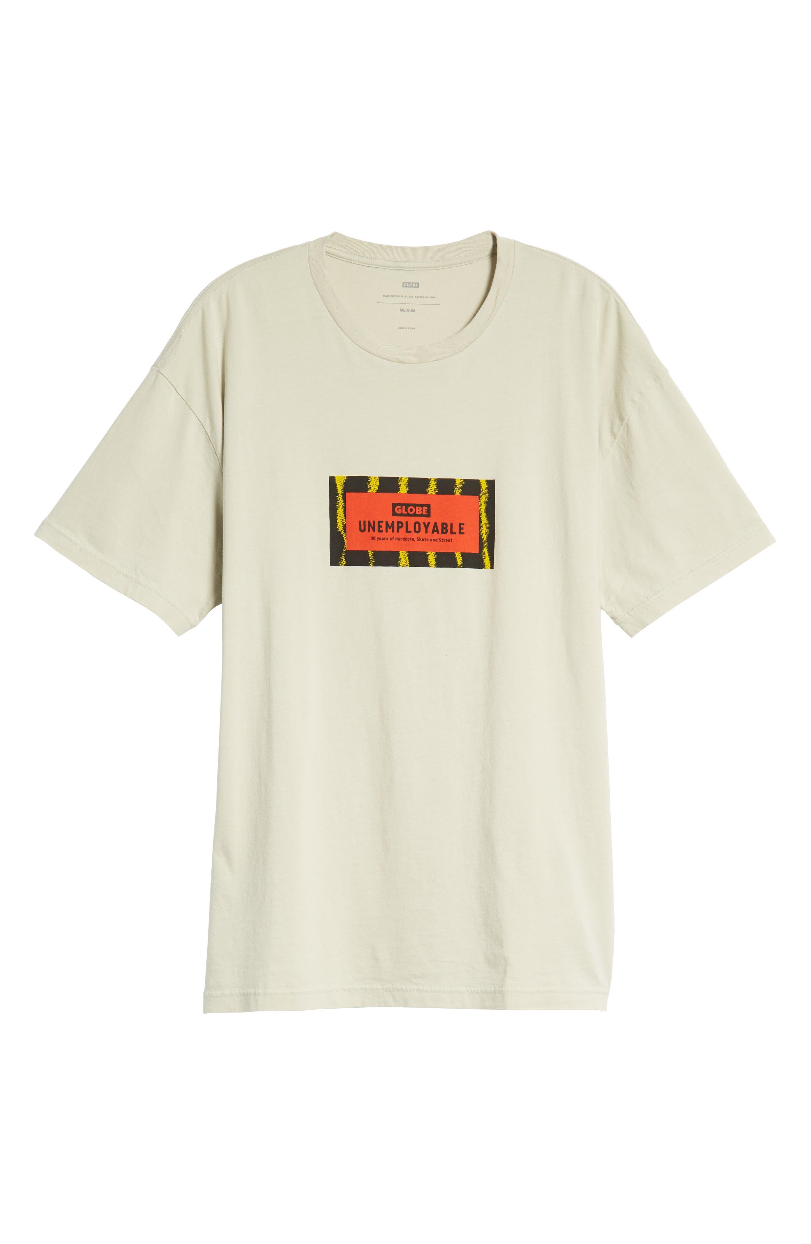 GLOBE,                             Unemployable Captain T-Shirt,                             Alternate thumbnail 6, color,                             900