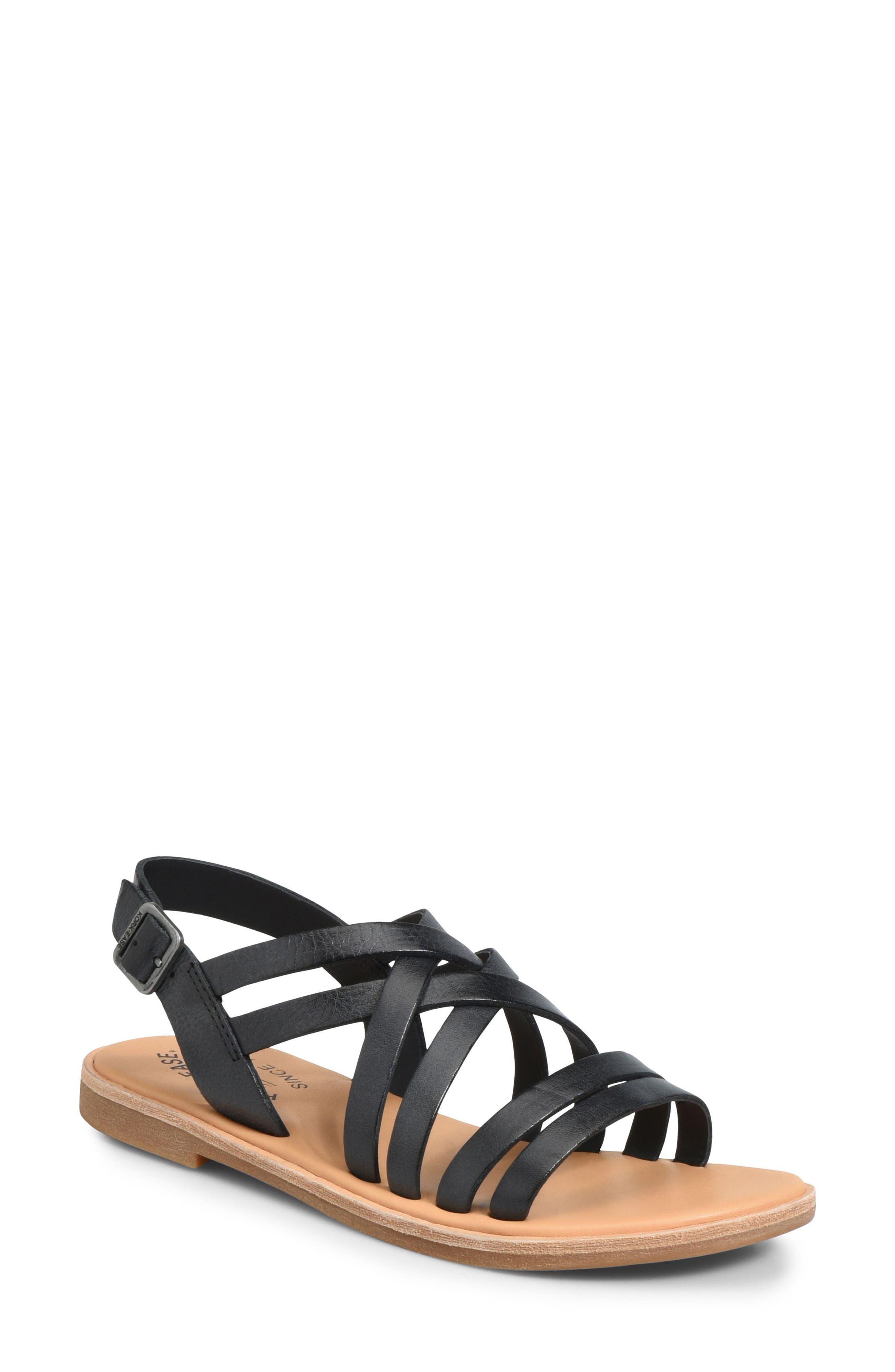 Nicobar Sandal,                         Main,                         color, BLACK LEATHER