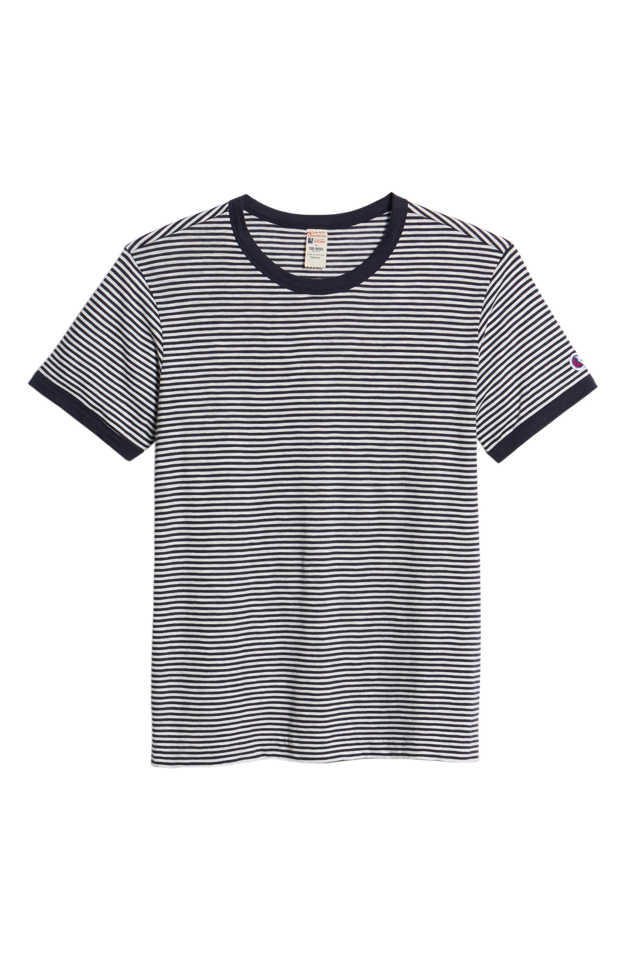 + Champion Stripe T-Shirt,                             Alternate thumbnail 6, color,                             410