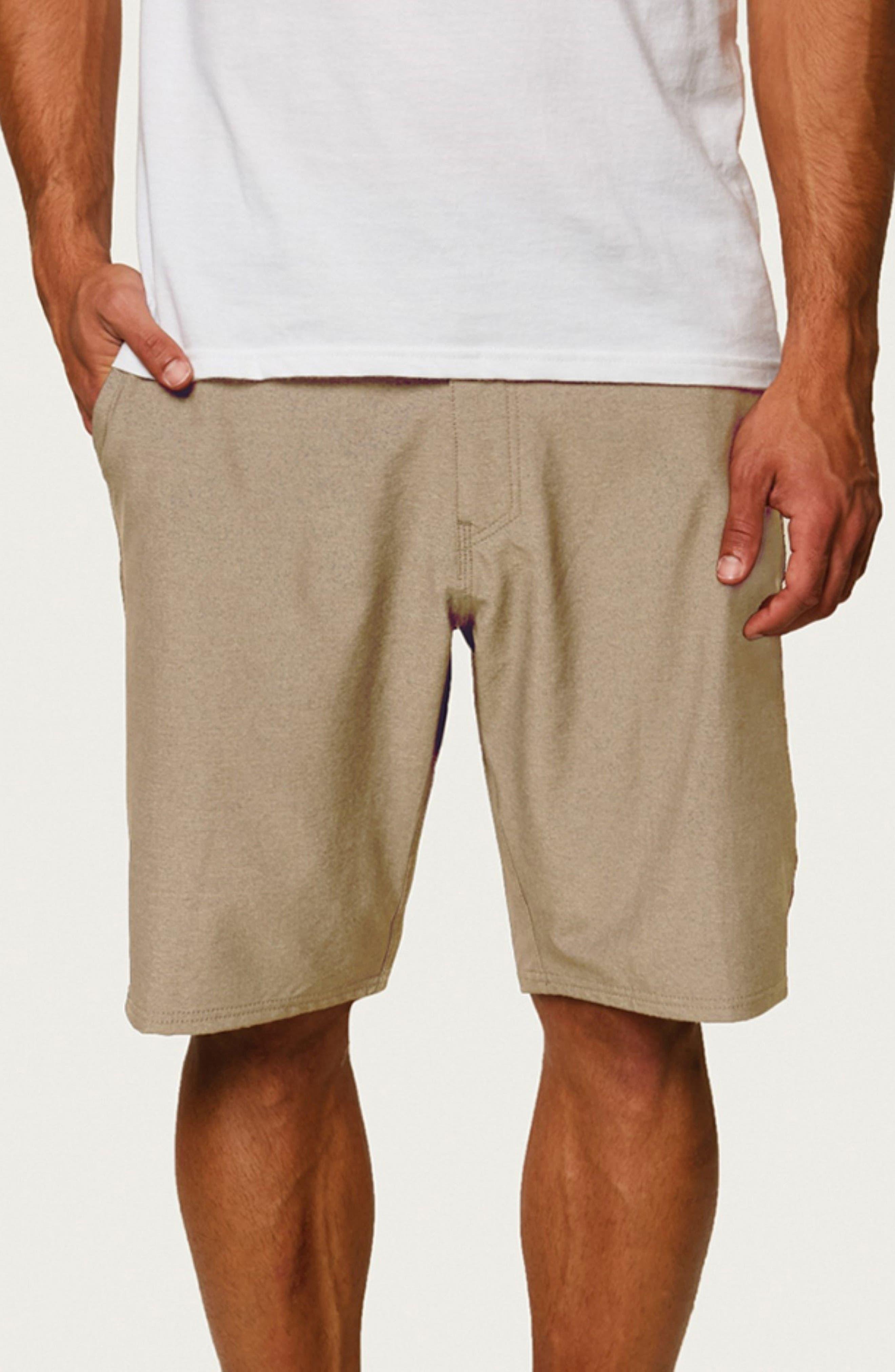 Stockton Hybrid Shorts,                             Alternate thumbnail 4, color,                             KHAKI