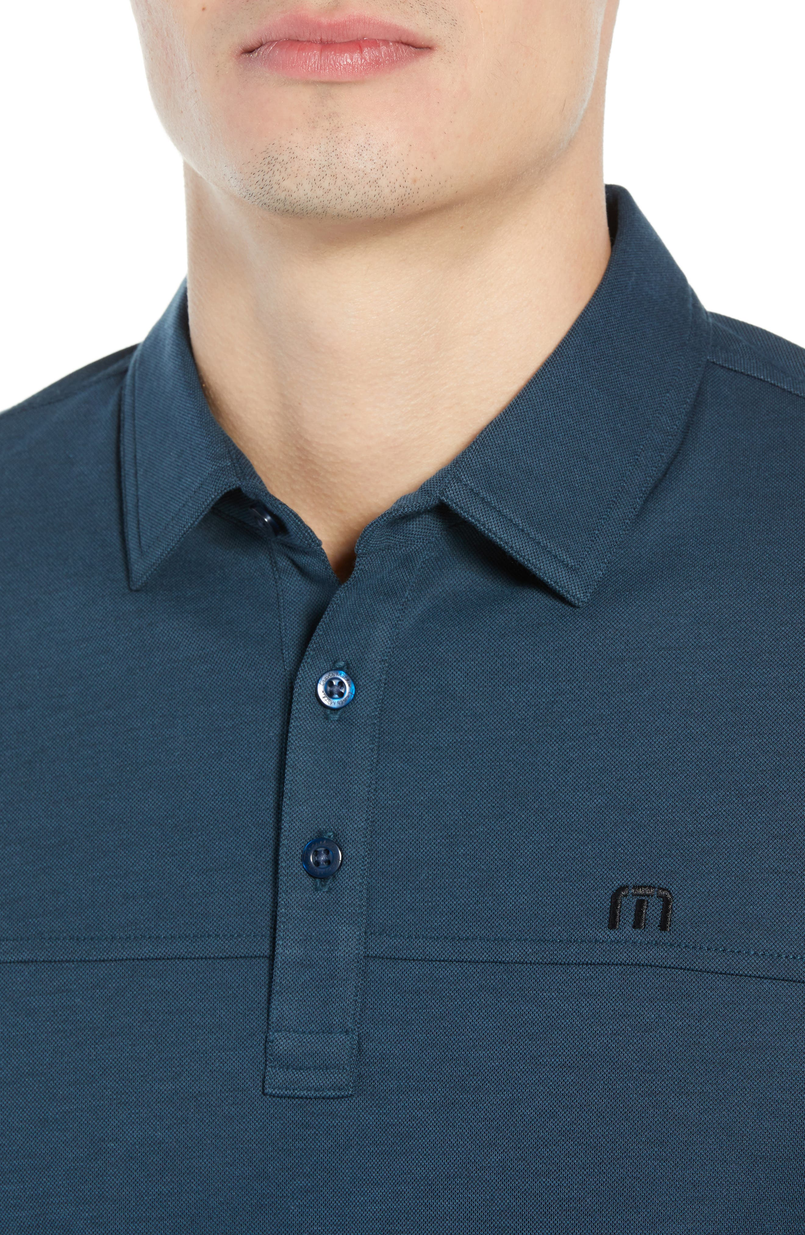 Wojo Piqué Polo,                             Alternate thumbnail 4, color,                             BLUE WING TEAL/BLACK