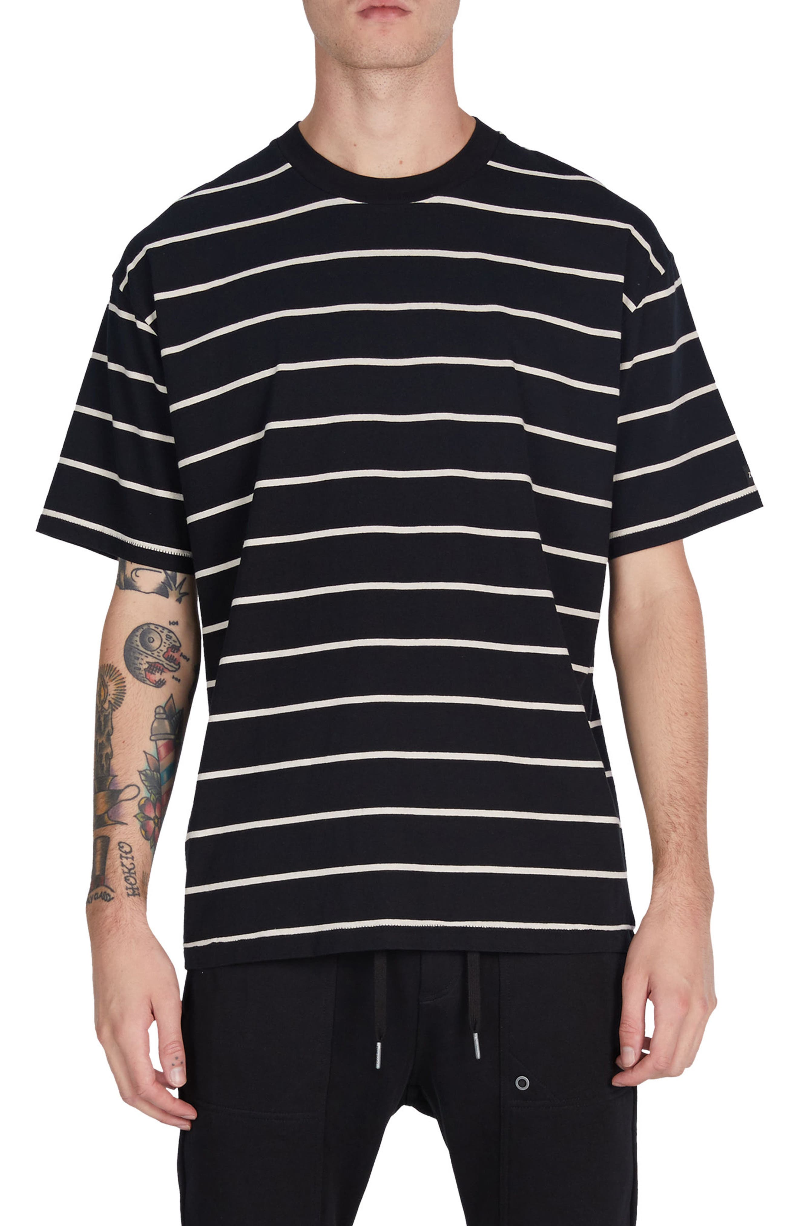 Box Stripes T-Shirt,                             Main thumbnail 1, color,                             001