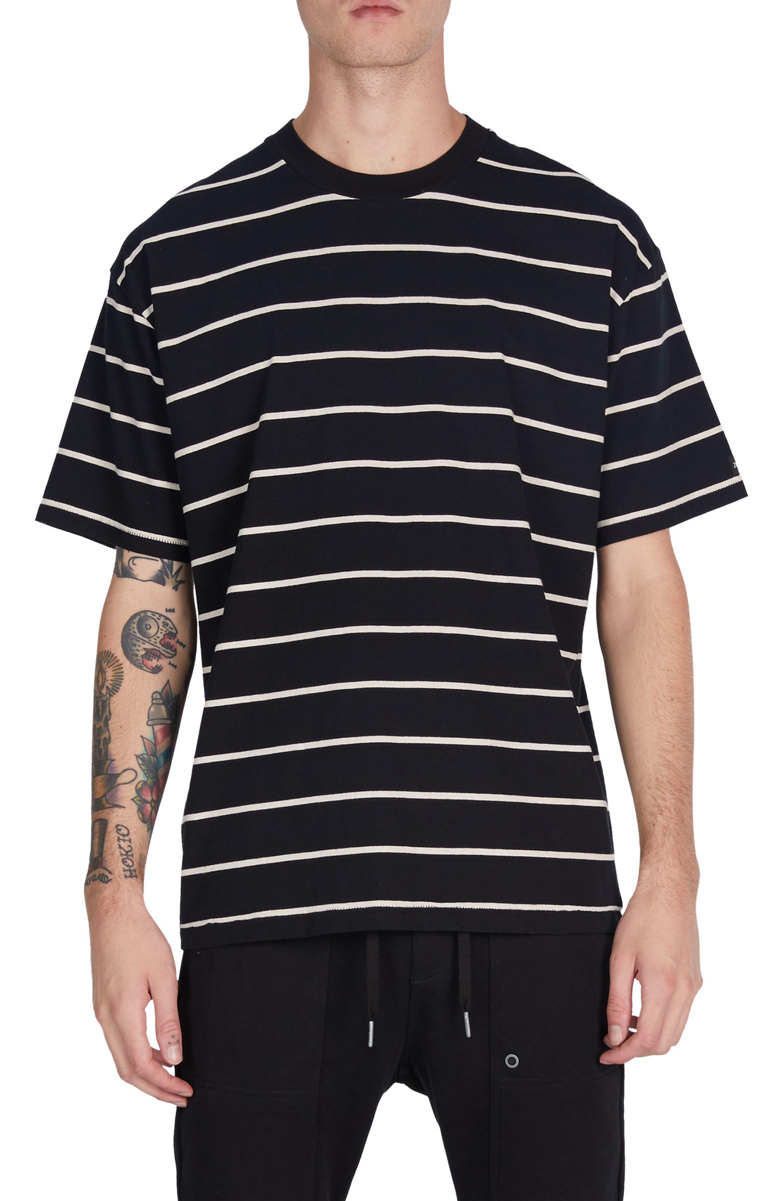 Box Stripes T-Shirt,                         Main,                         color, 001
