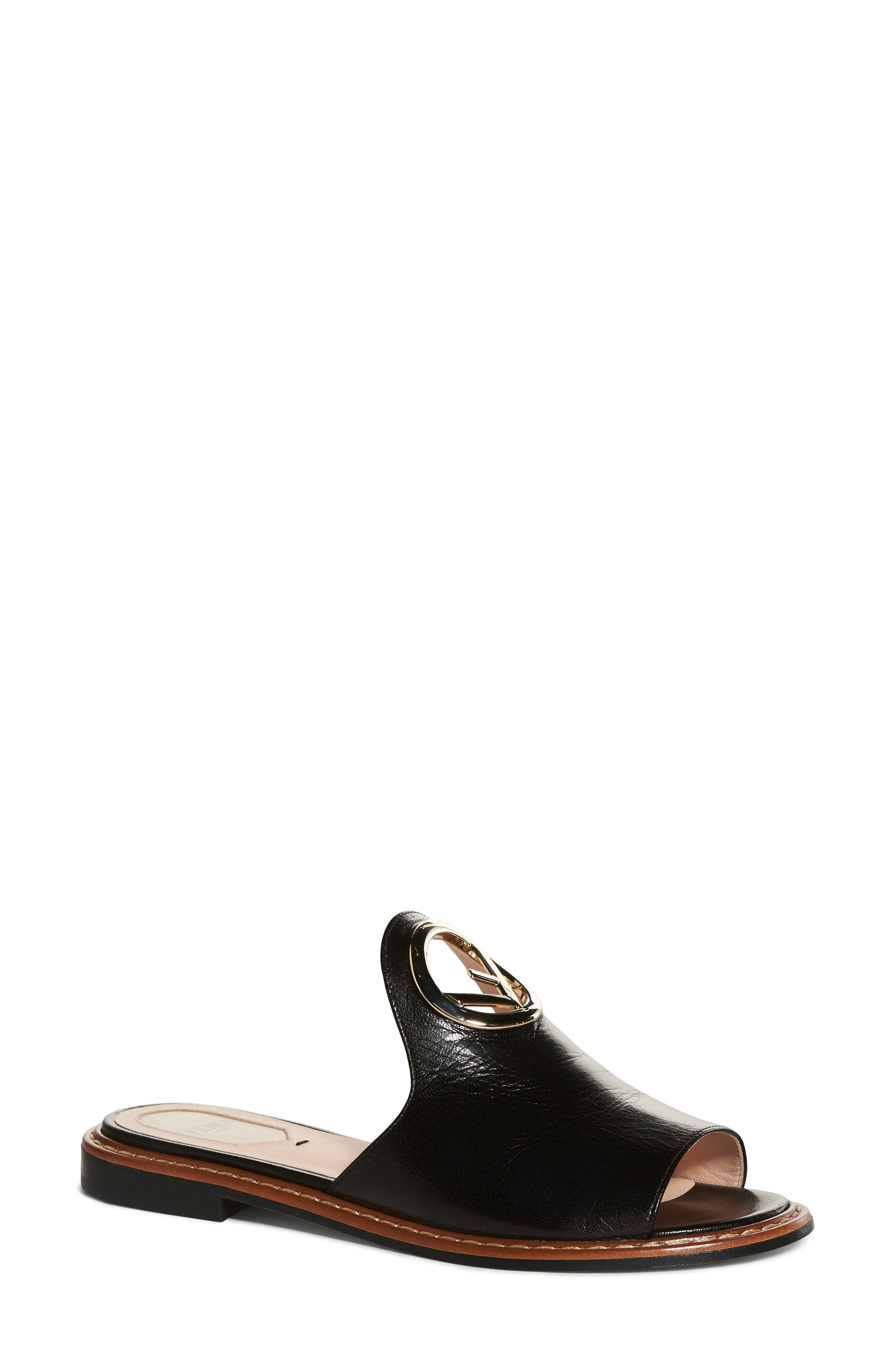 F Is For Fendi Open Toe Mule,                             Main thumbnail 1, color,