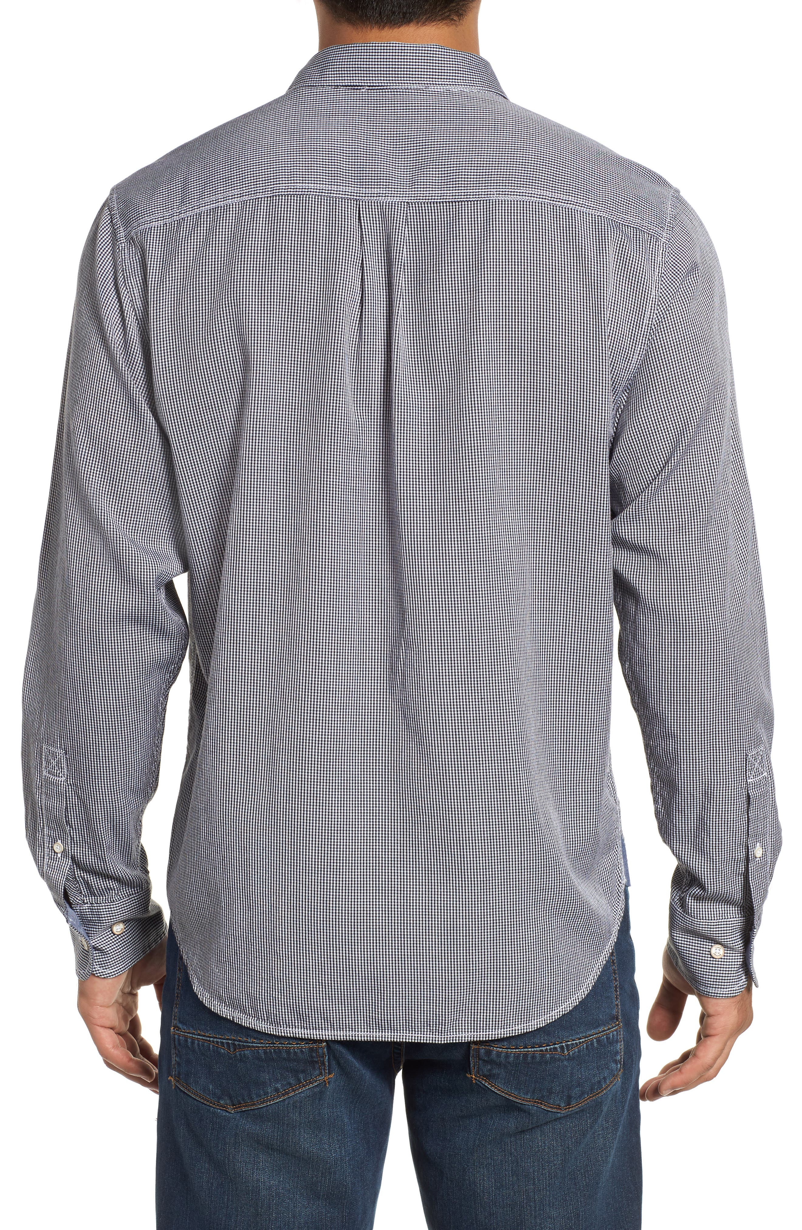 Twilly Check Sport Shirt,                             Alternate thumbnail 3, color,                             BLACK