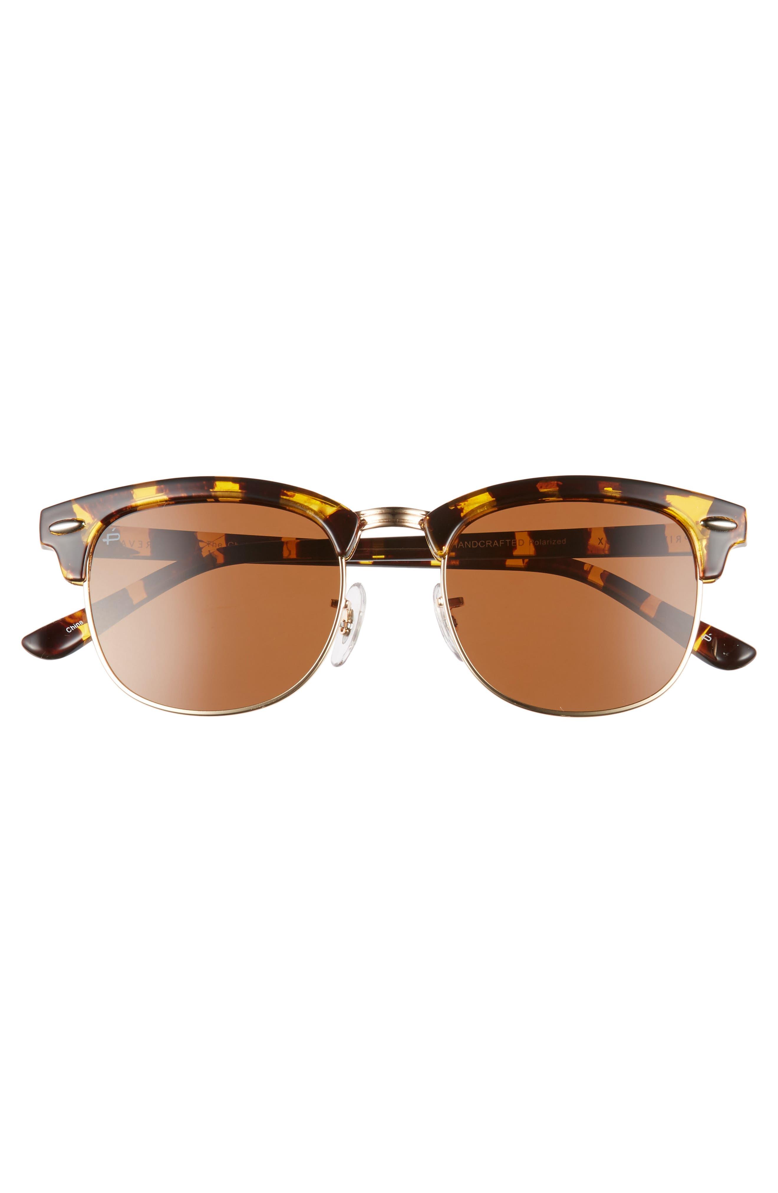 Privé Revaux The Chairman 52mm Polarized Browline Sunglasses,                             Alternate thumbnail 4, color,