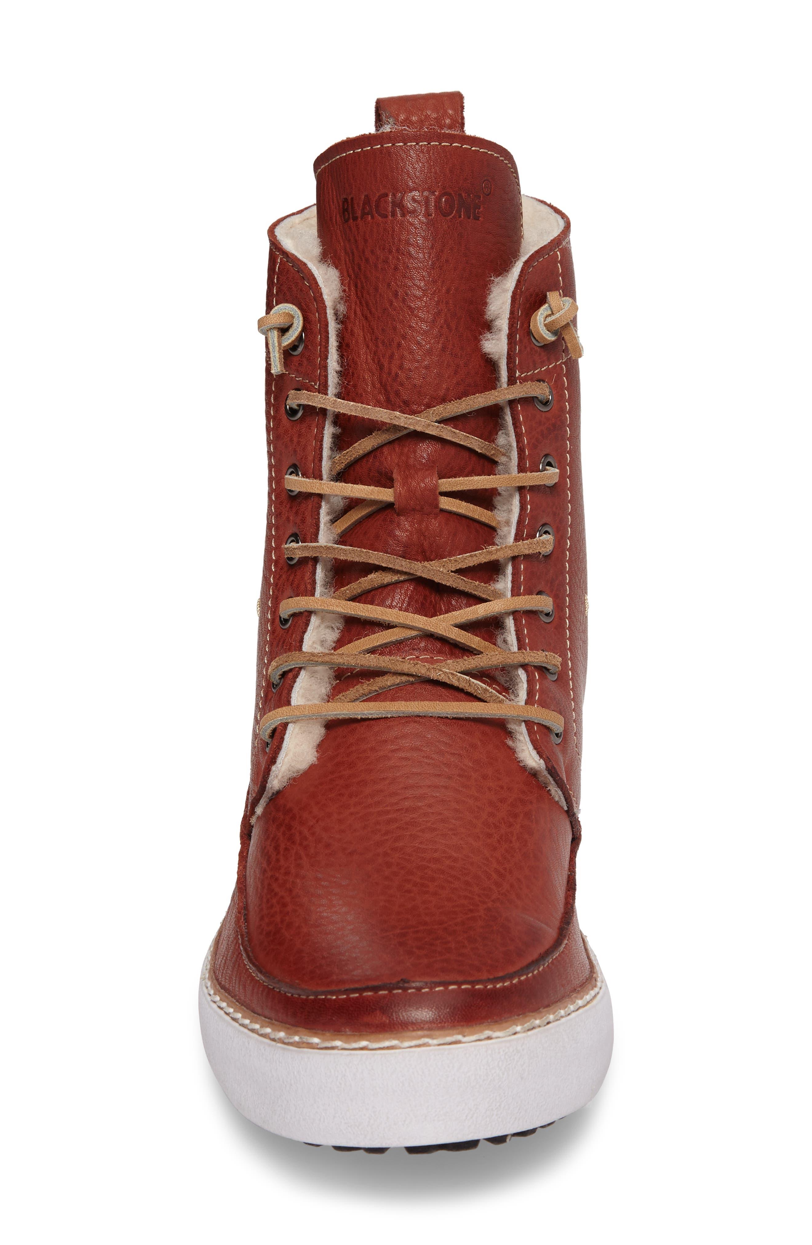 BLACKSTONE,                             'AM 32' Shearling Lined Boot,                             Alternate thumbnail 4, color,                             200