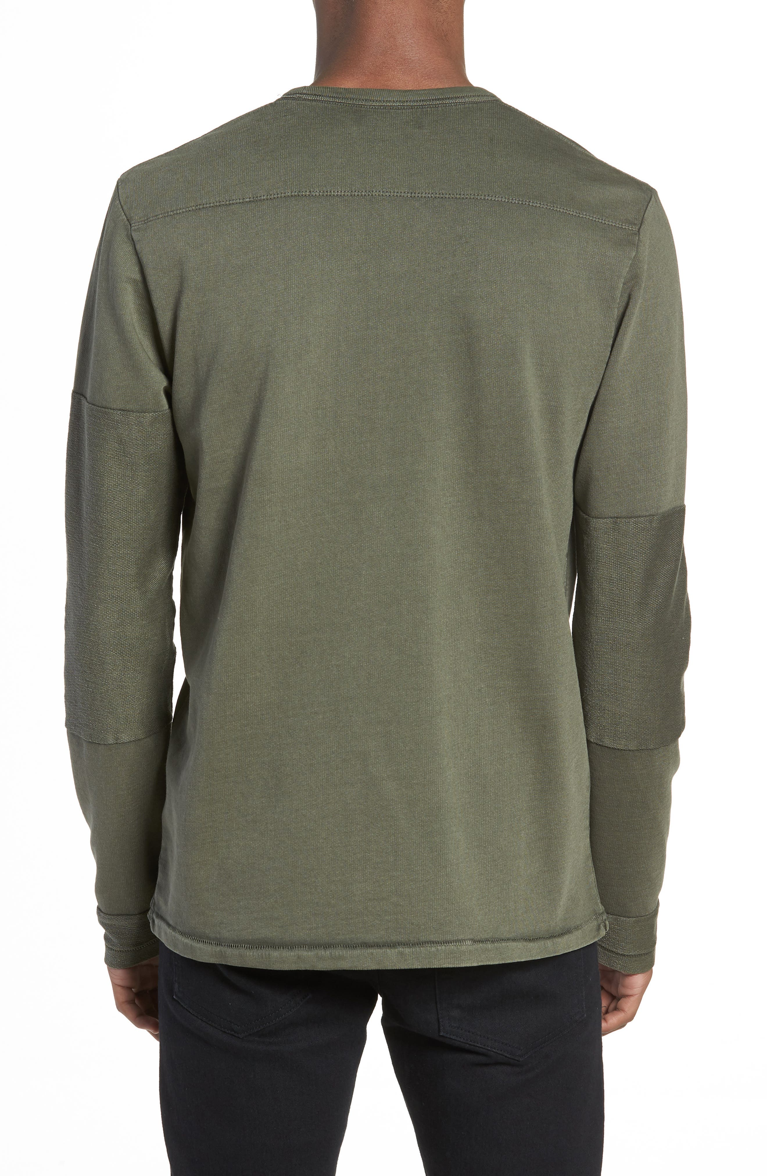 Patchwork Long Sleeve T-Shirt,                             Alternate thumbnail 2, color,                             COMBAT