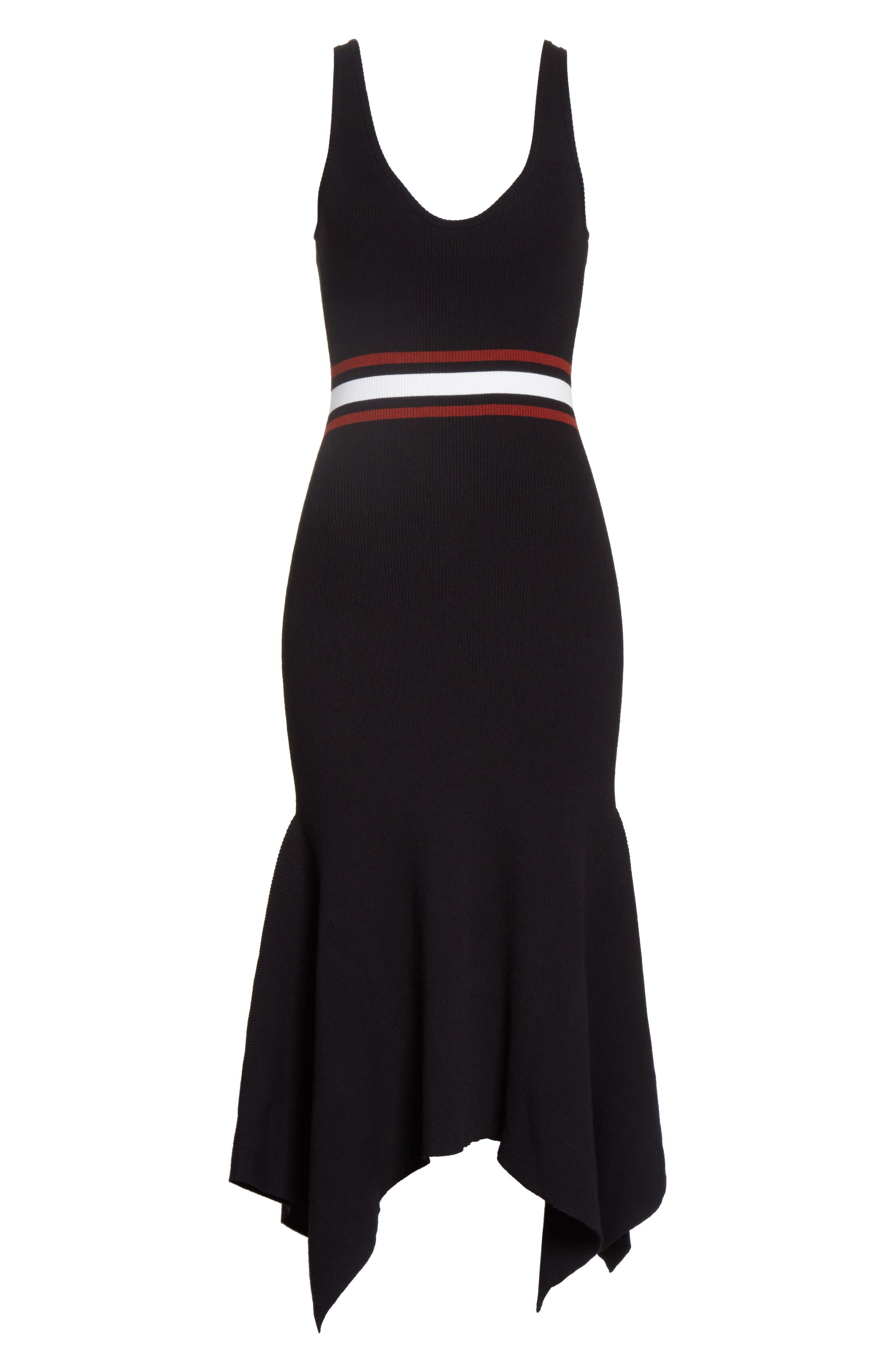 Anders Rib Knit Dress,                             Alternate thumbnail 6, color,                             002