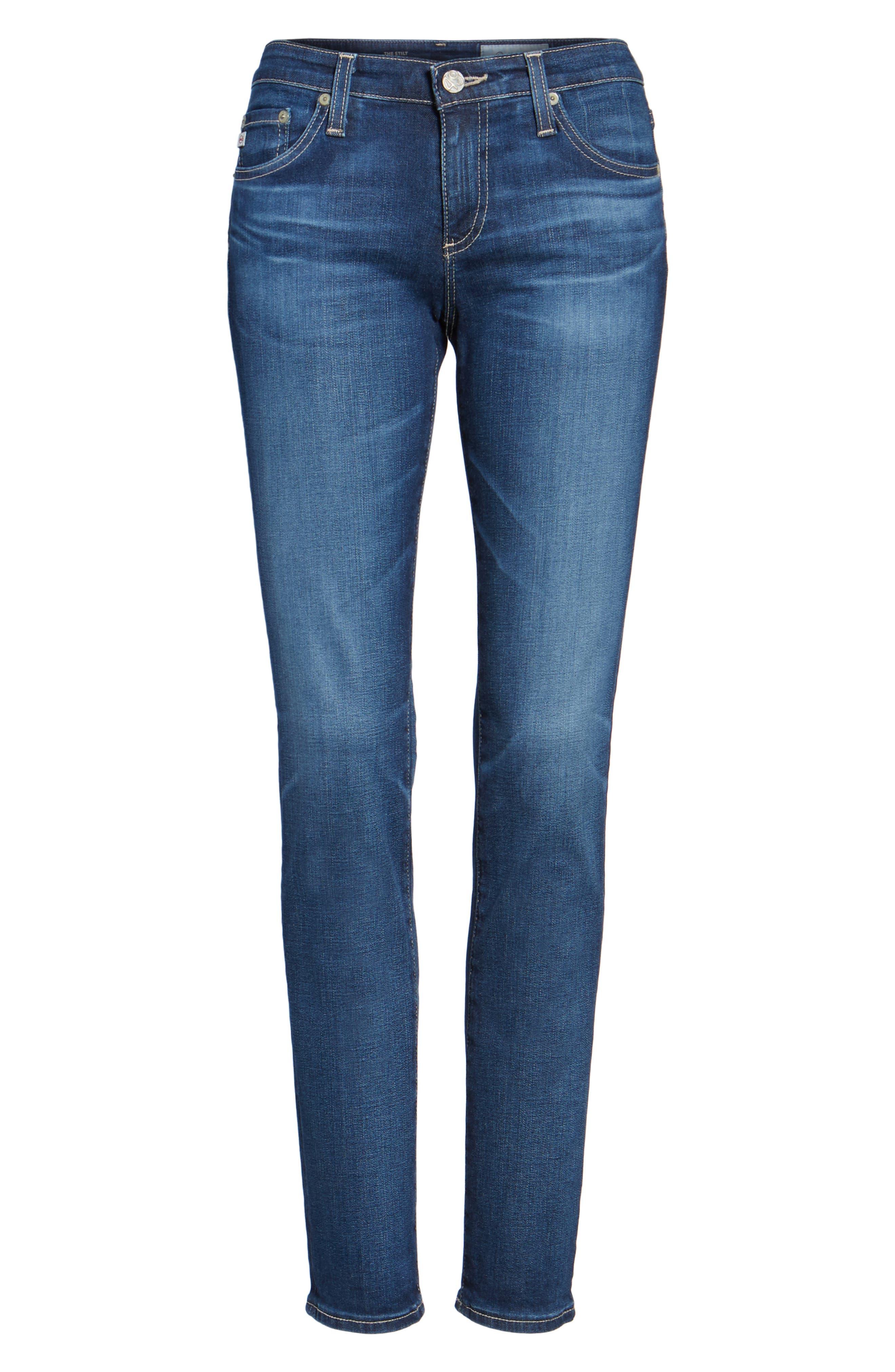 The Stilt Cigarette Leg Jeans,                         Main,                         color, 401