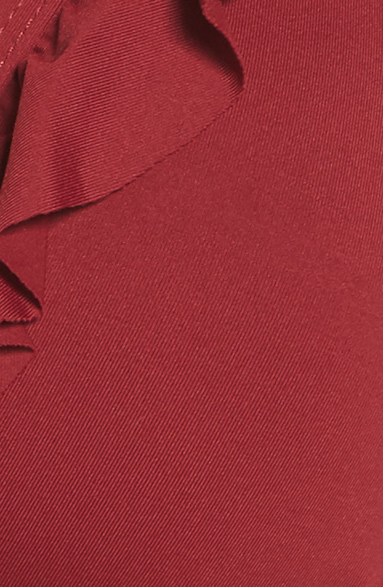 Ruffle Halter Bikini Top,                             Alternate thumbnail 5, color,                             RED RUMBA