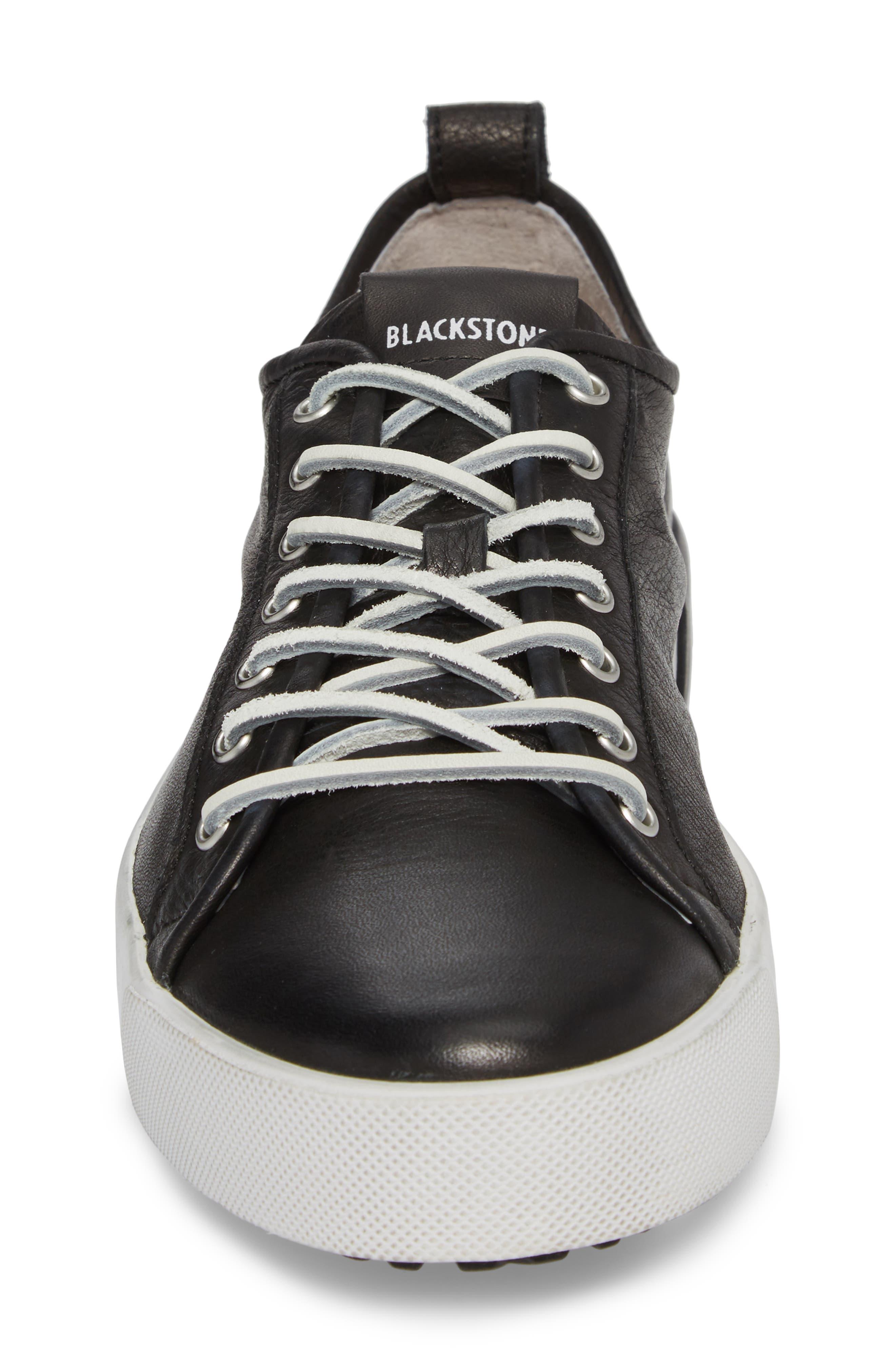PM66 Low Top Sneaker,                             Alternate thumbnail 4, color,                             BLACK LEATHER