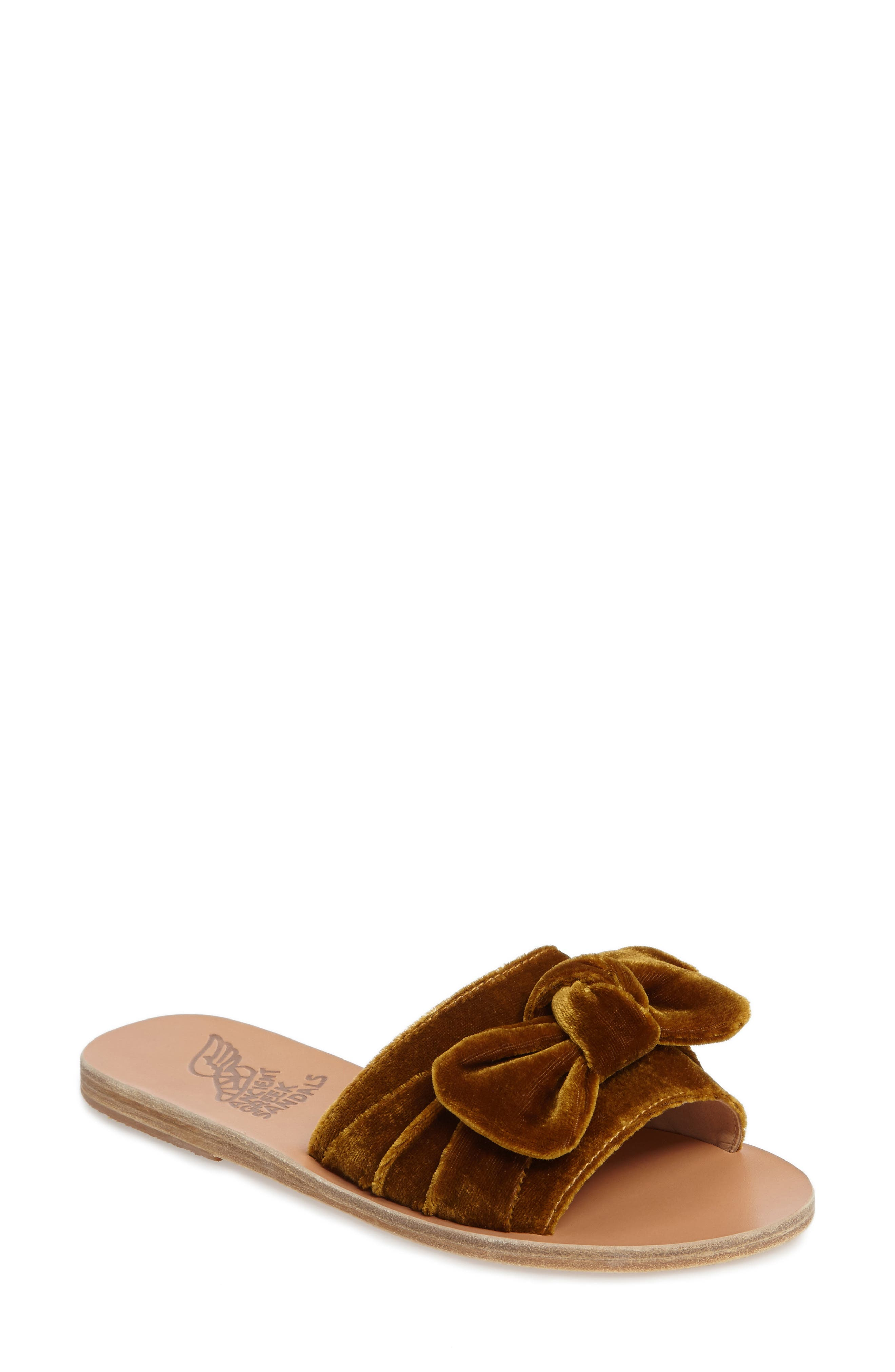Taygete Bow Slide Sandal,                             Main thumbnail 4, color,