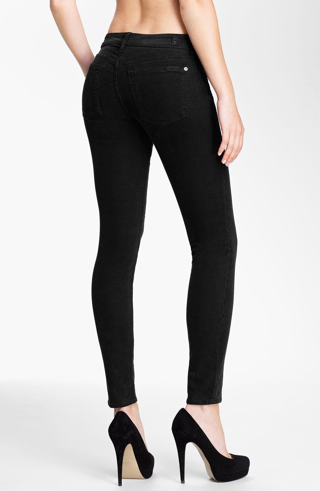 Skinny Corduroy Pants,                             Alternate thumbnail 2, color,                             001