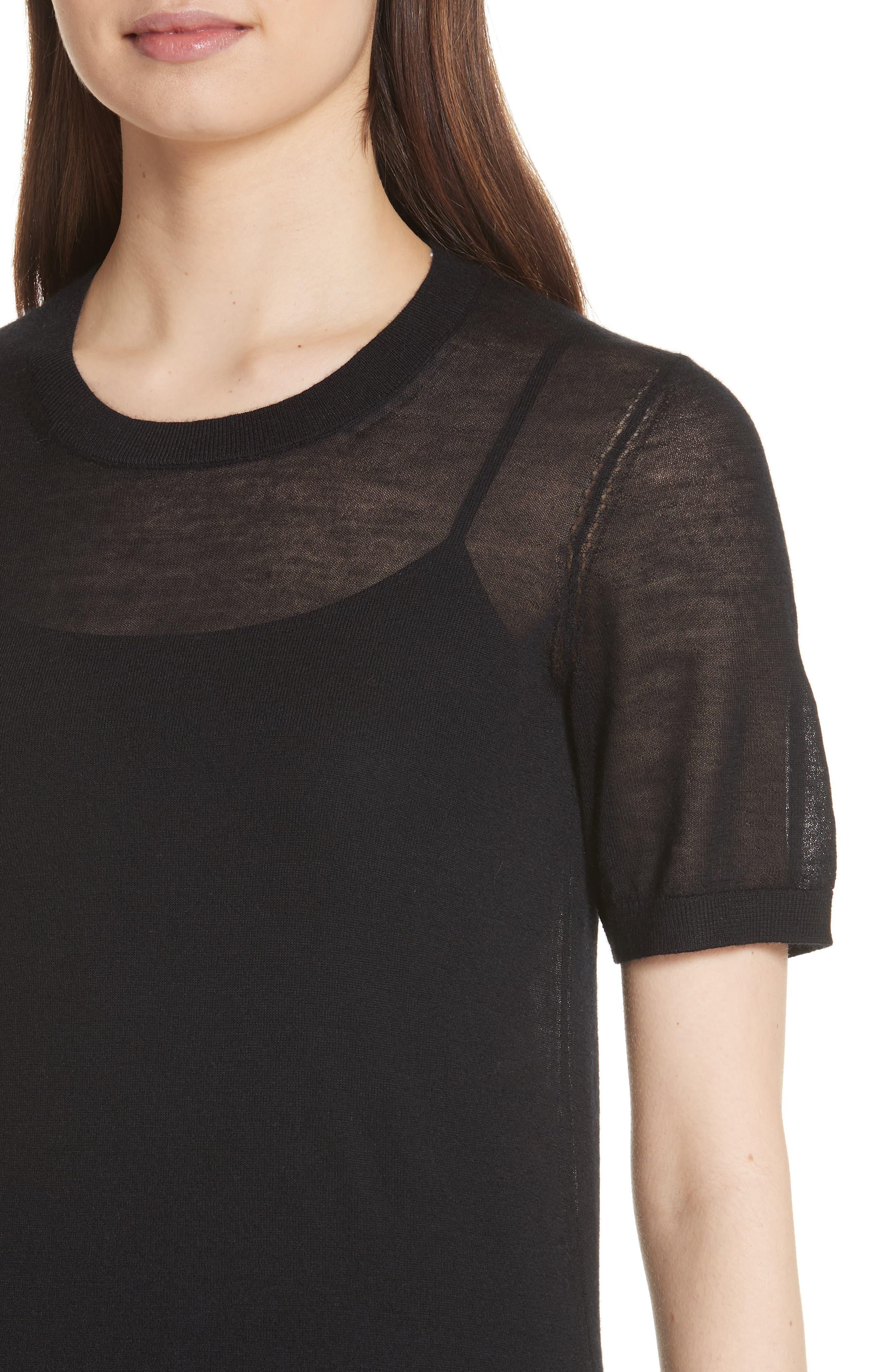 Killik Cashmere Sweater,                             Alternate thumbnail 4, color,                             BLACK