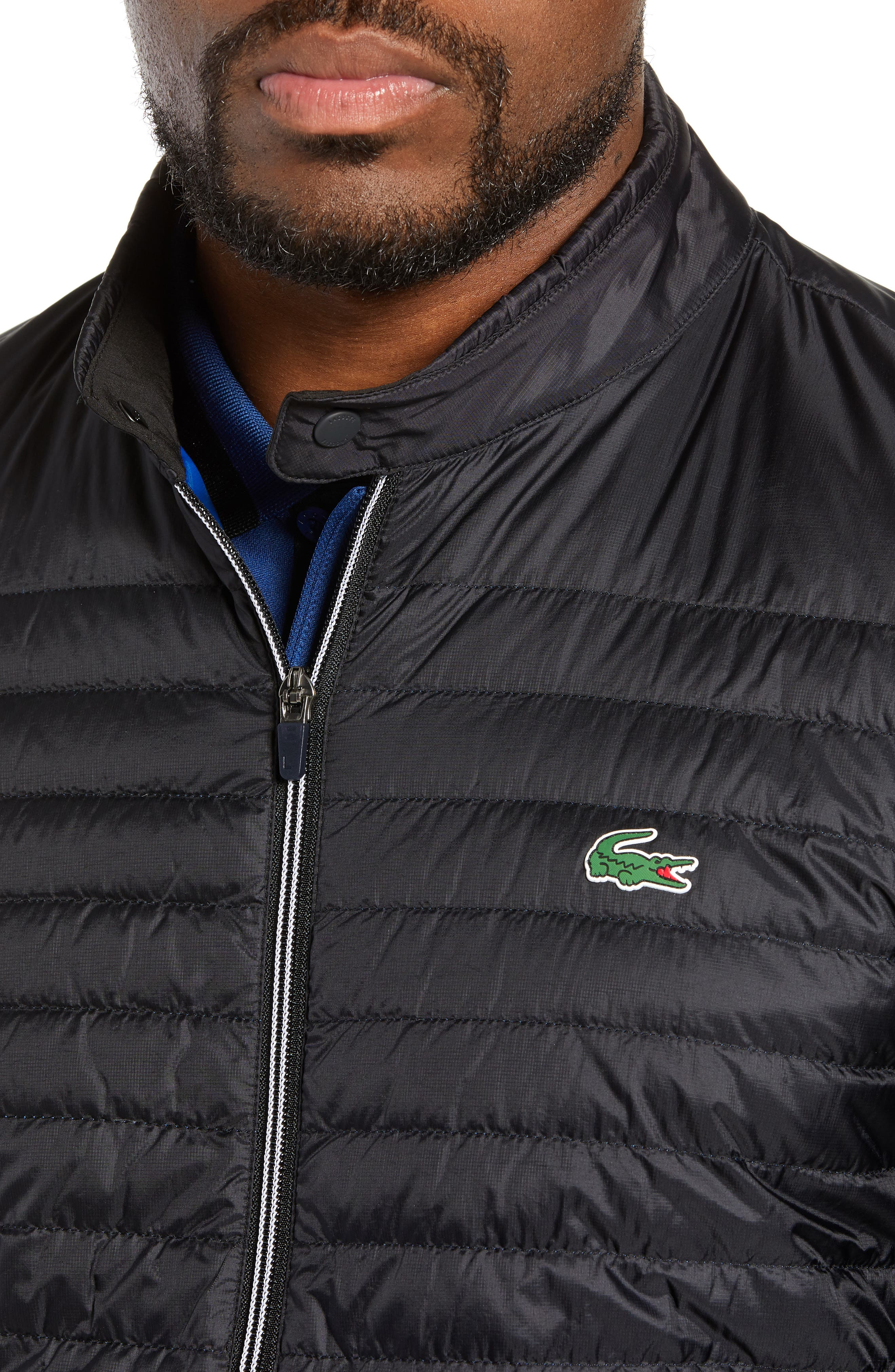 Sport Water Resistant Quilted Down Golf Jacket,                             Alternate thumbnail 4, color,                             010