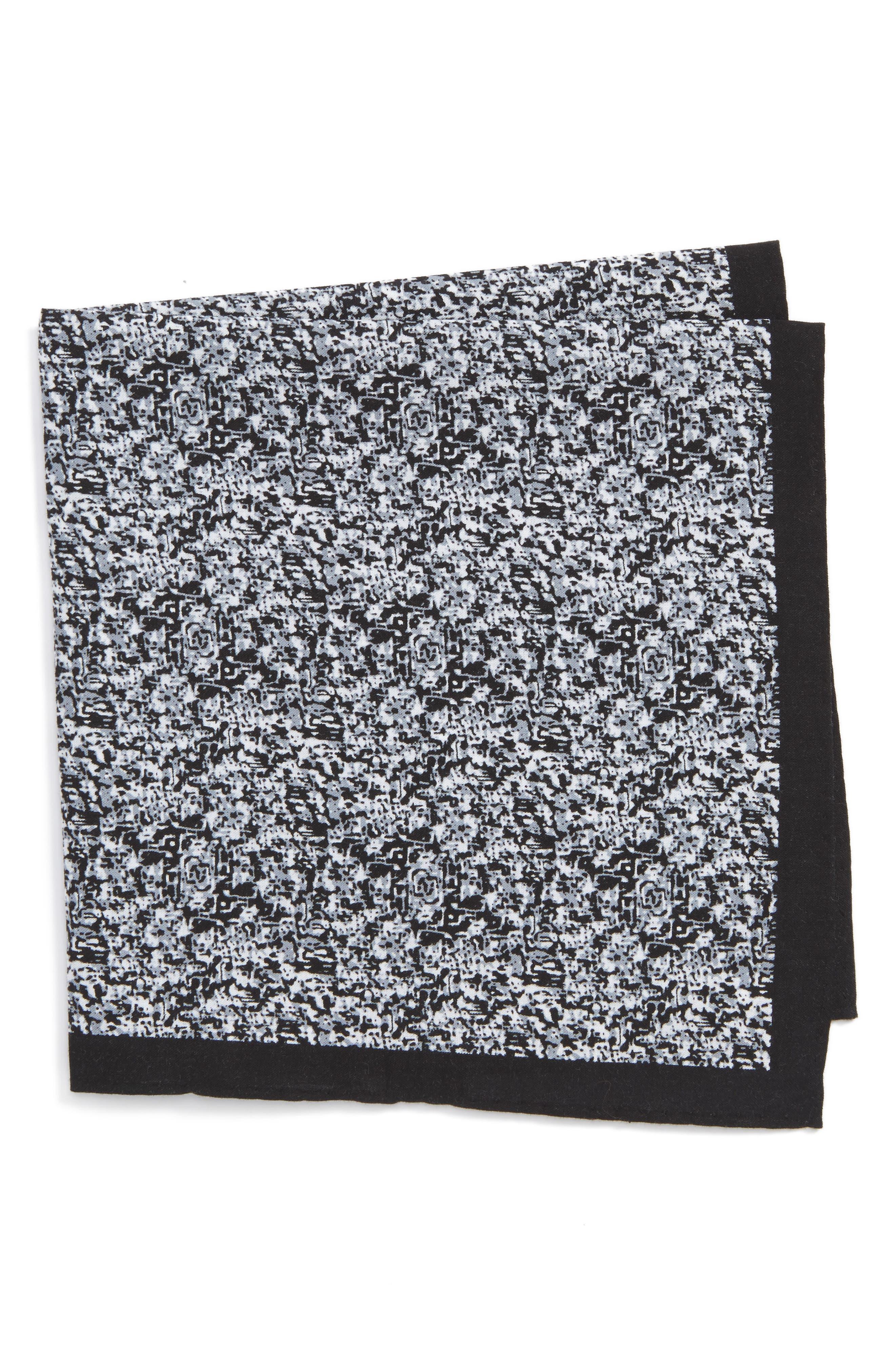 Panso Print Cotton Pocket Square,                             Main thumbnail 1, color,                             001