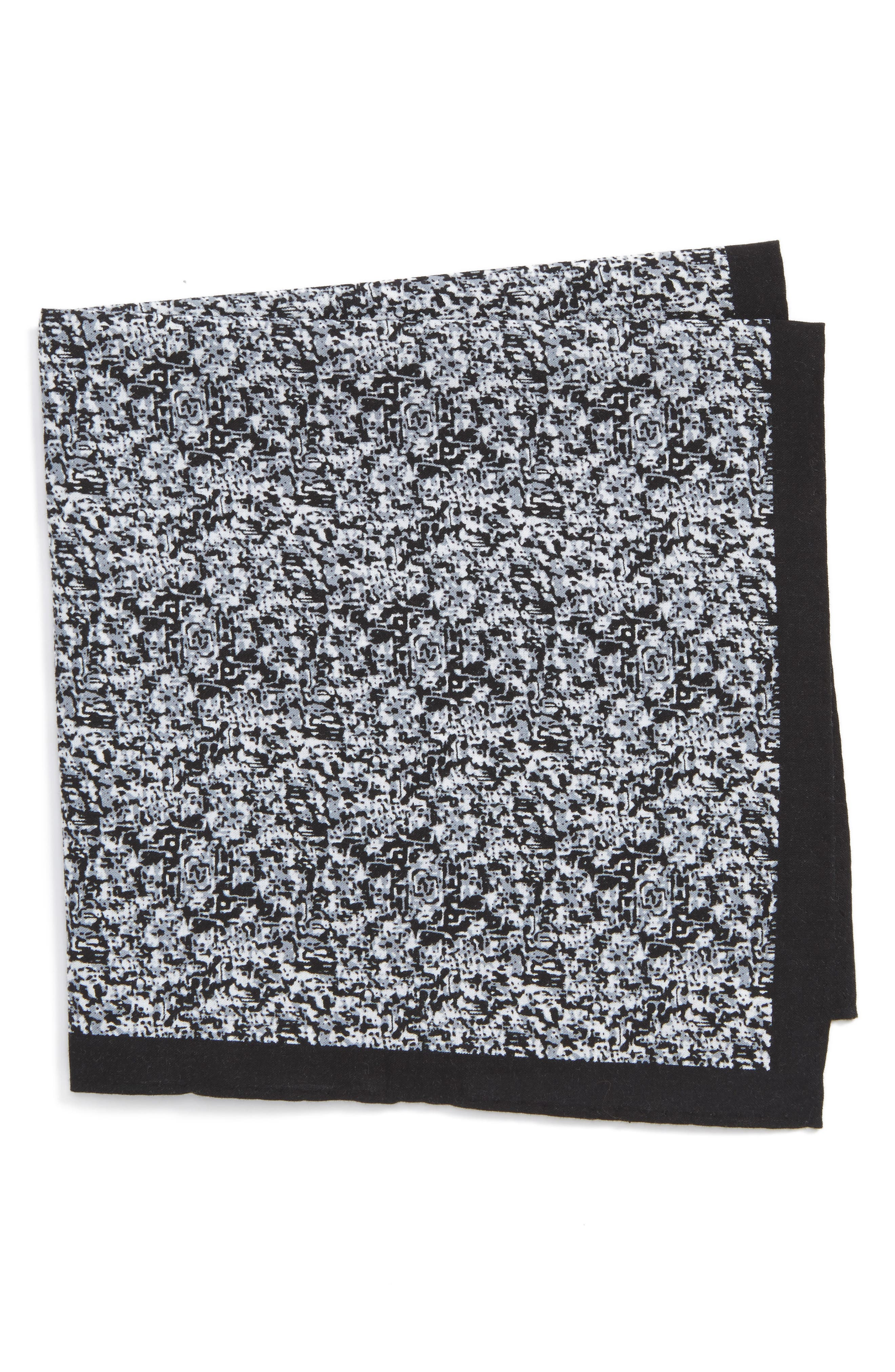 Panso Print Cotton Pocket Square,                         Main,                         color, 001