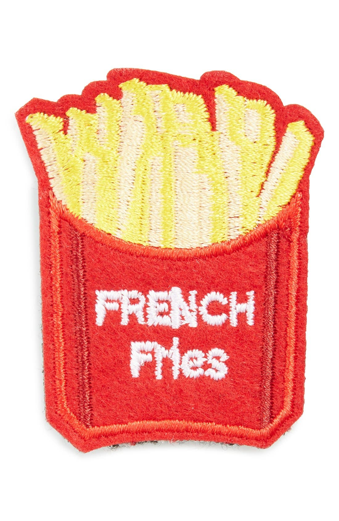 CARA French Fries Patch Brooch, Main, color, 600