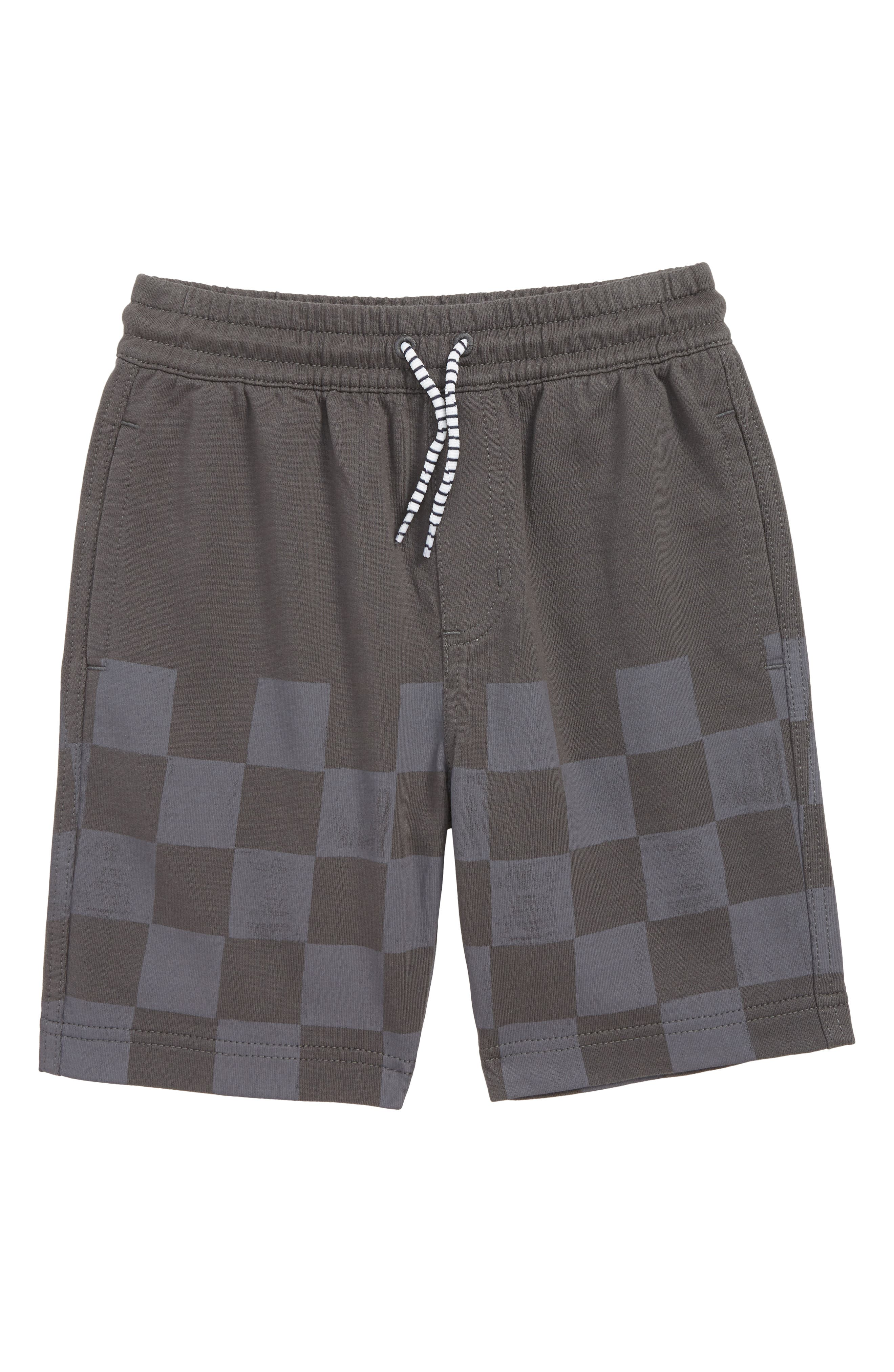 TEA COLLECTION,                             Checkered Sweat Shorts,                             Main thumbnail 1, color,                             IRON