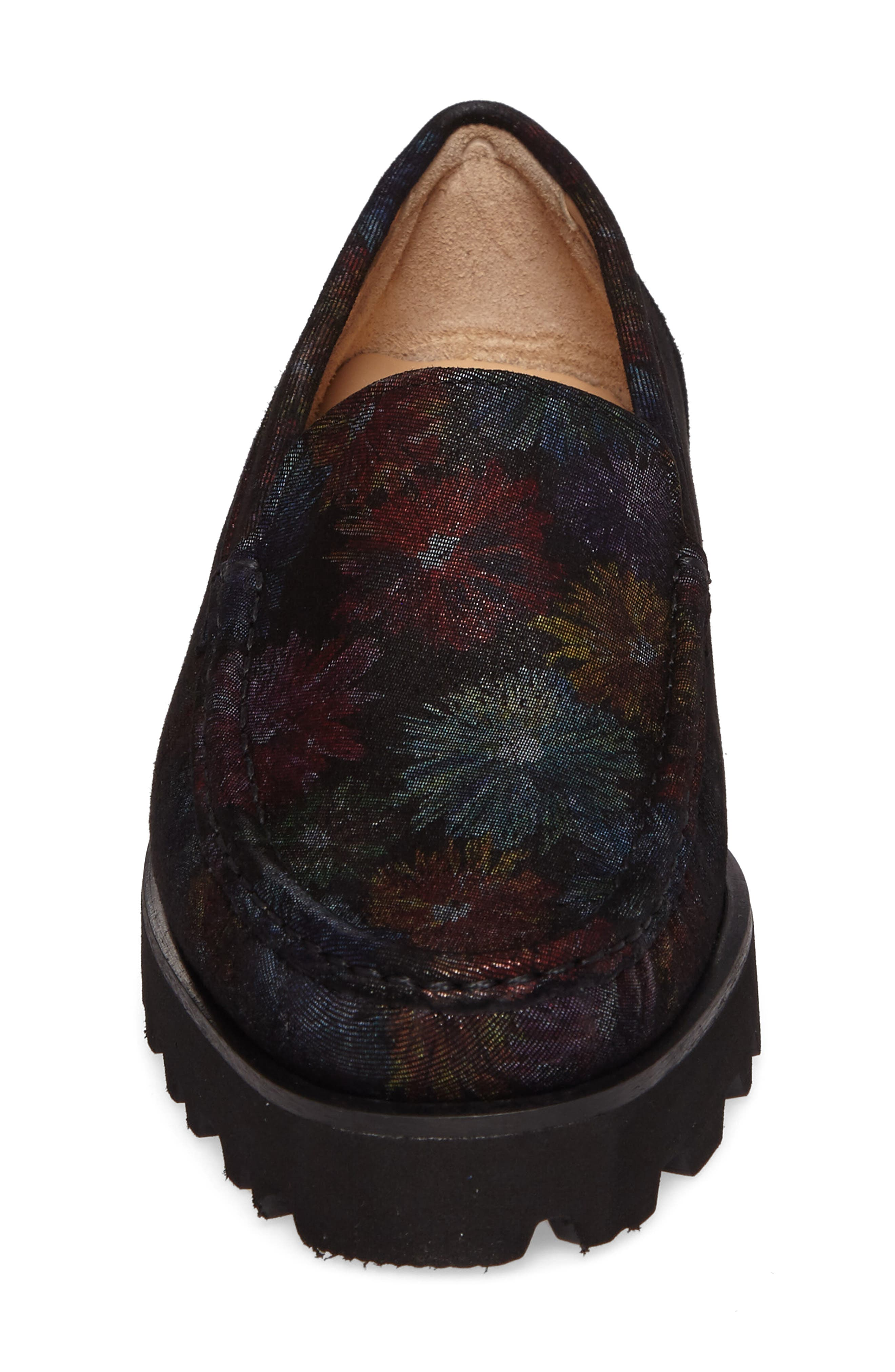 Rita Floral Water Resistant Penny Loafer,                             Alternate thumbnail 4, color,                             400