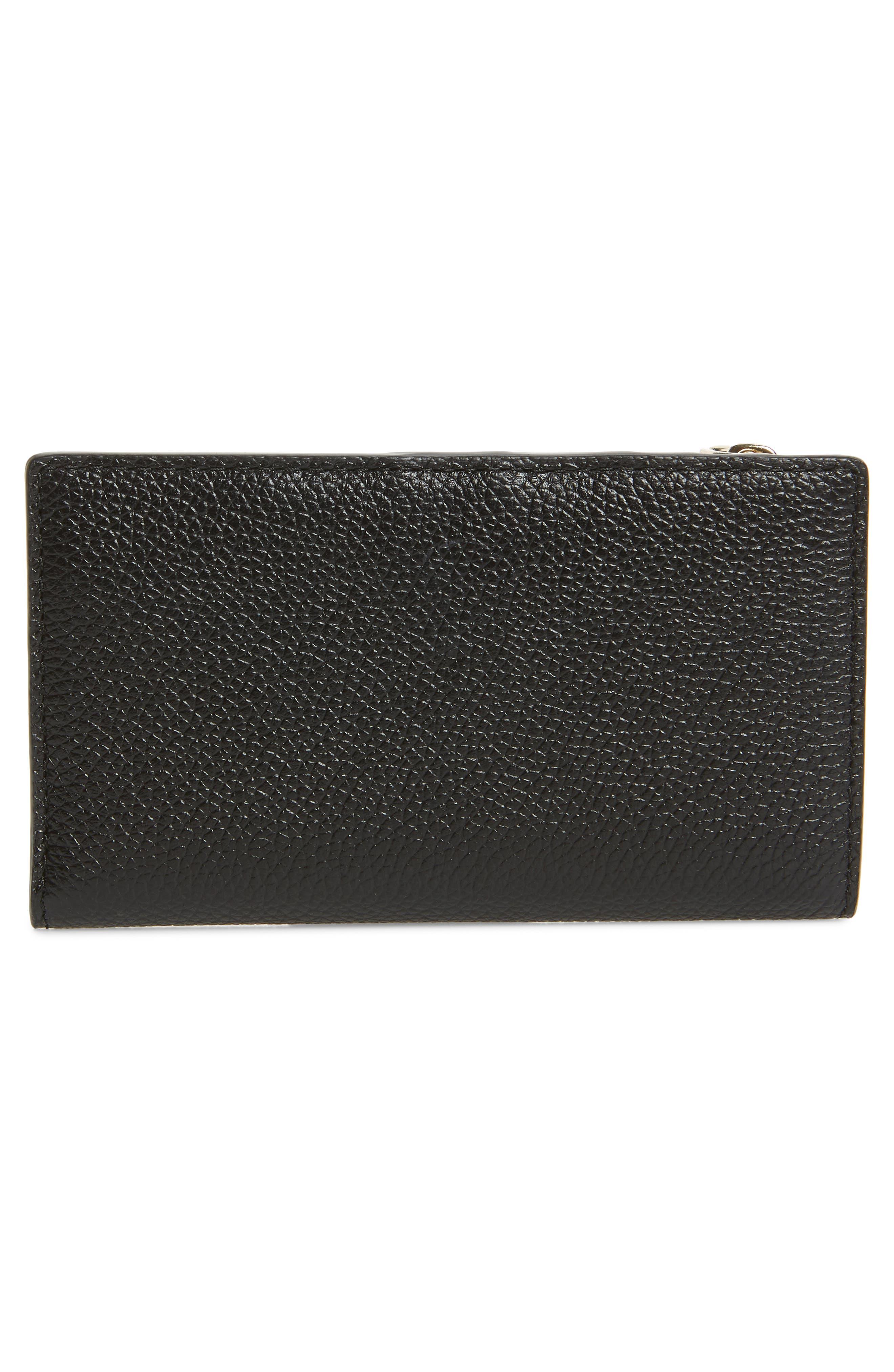 KATE SPADE NEW YORK,                             margaux slim bifold wallet,                             Alternate thumbnail 4, color,                             BLACK