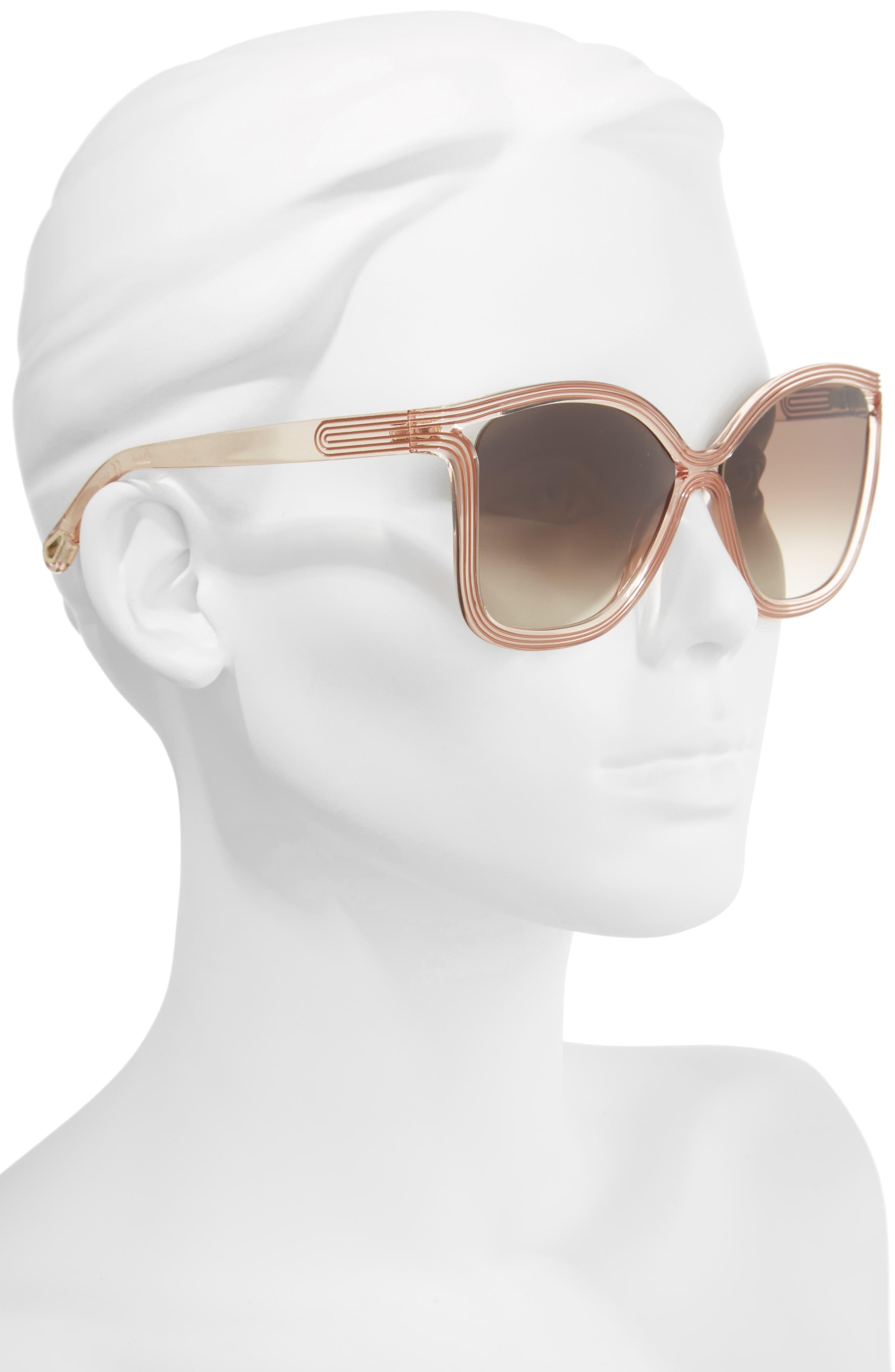 Grooves 58mm Rectangular Sunglasses,                             Alternate thumbnail 8, color,