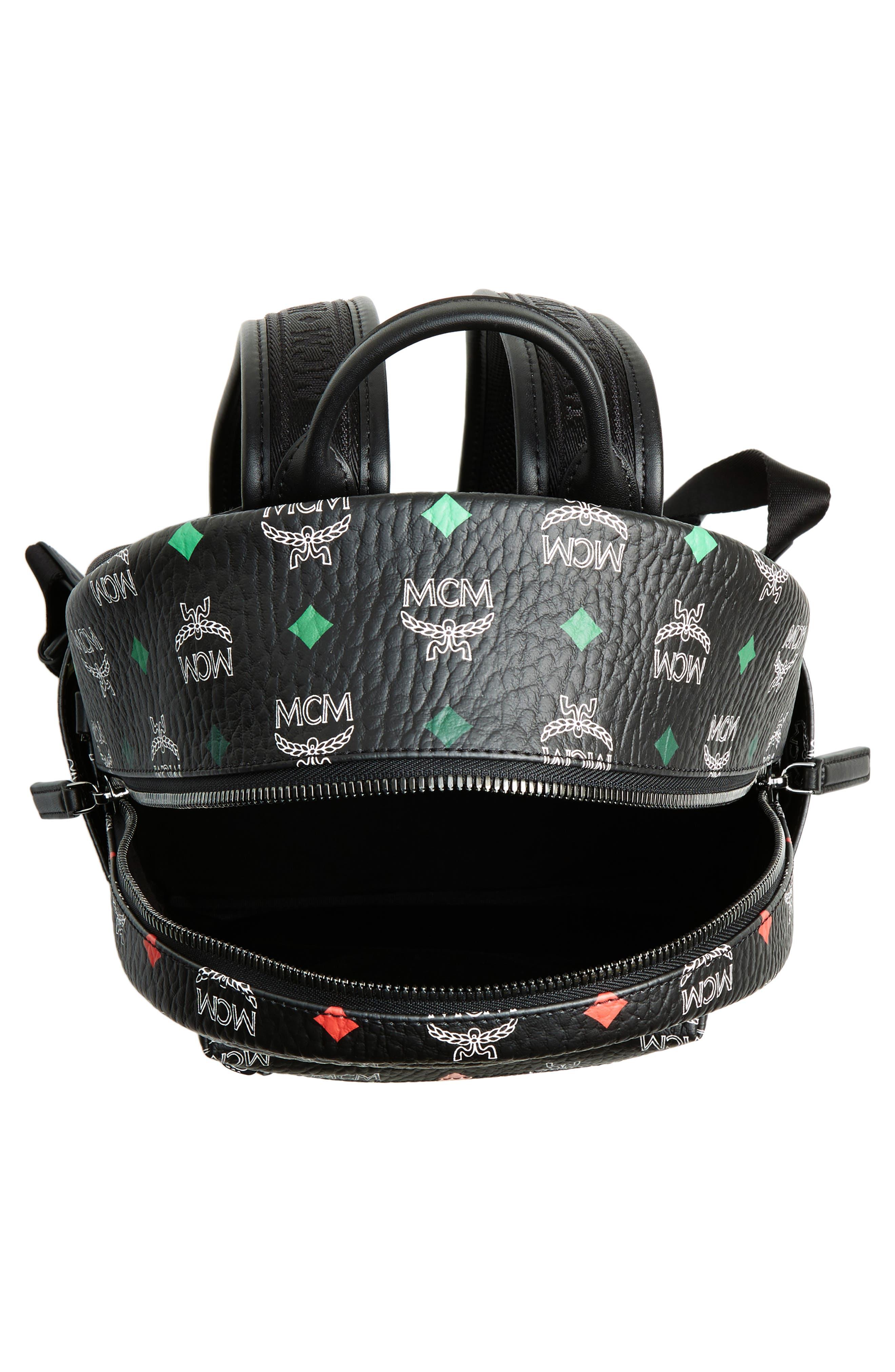MCM,                             Small Stark Spektrum Backpack,                             Alternate thumbnail 4, color,                             SPECTRUM DIAMOND BLACK
