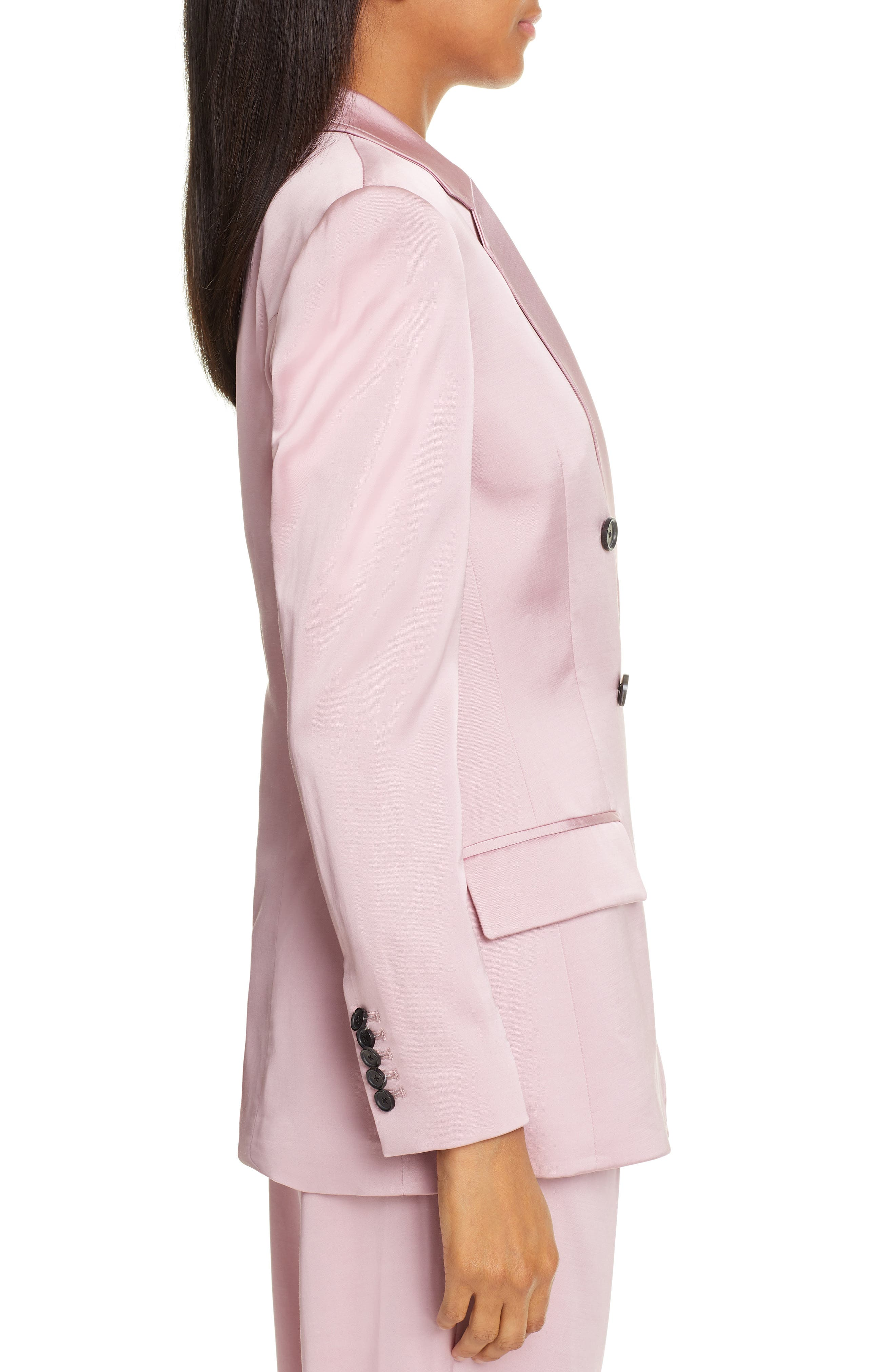 A.L.C.,                             Sedgewick Double Breasted Suiting Jacket,                             Alternate thumbnail 3, color,                             DUSTY ROSE