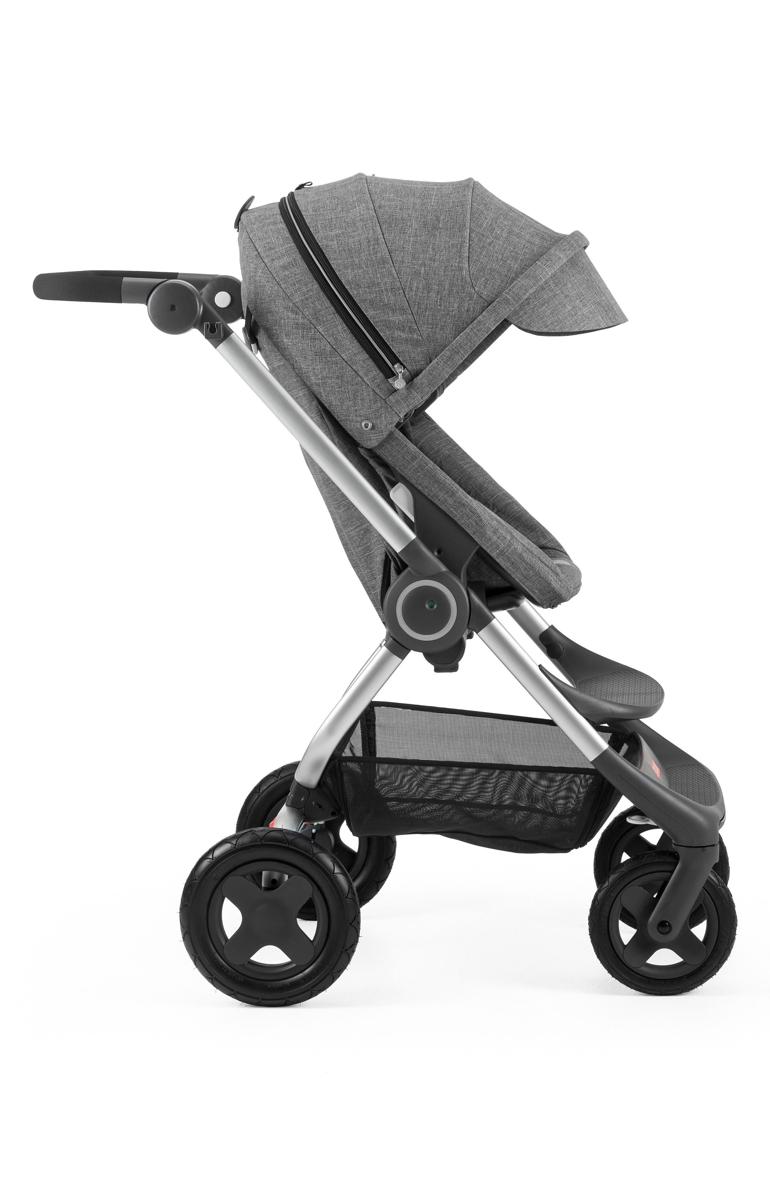 Scoot<sup>™</sup> Complete Stroller,                             Alternate thumbnail 6, color,                             BLACK MELANGE