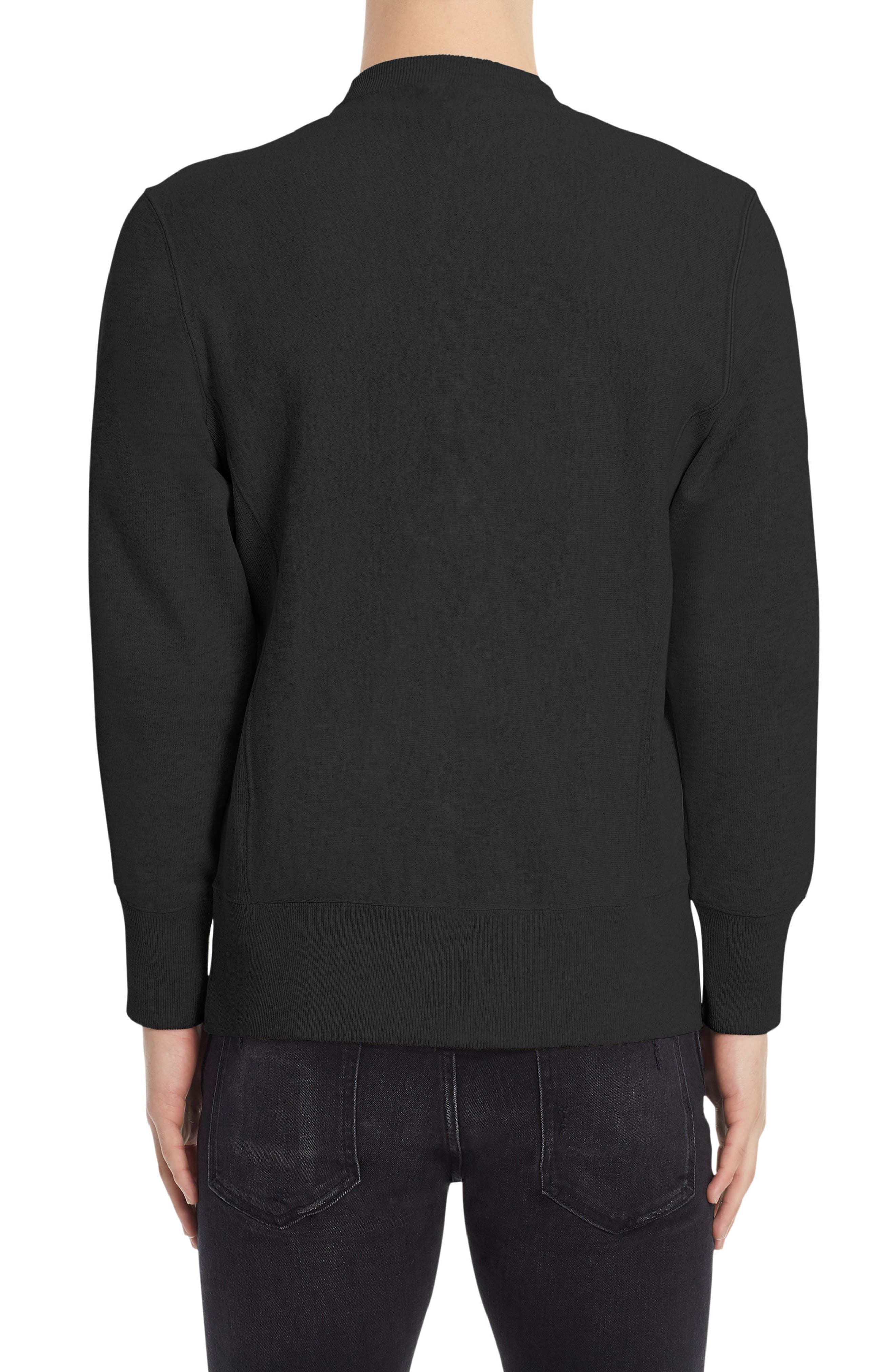 Reverse Weave<sup>®</sup> Logo Sweatshirt,                             Alternate thumbnail 2, color,                             001