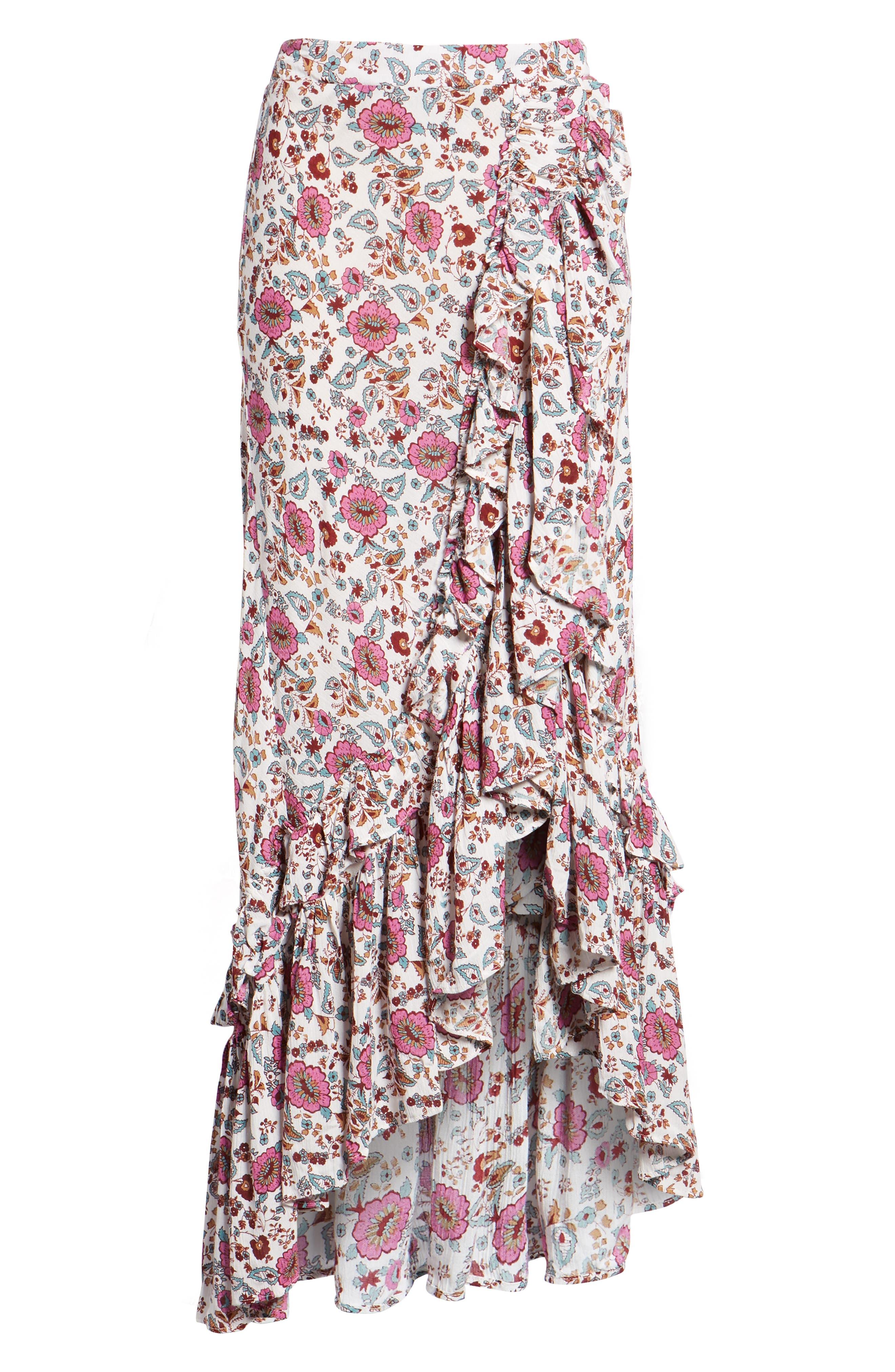 Summer Bloom Ruffle Skirt,                             Alternate thumbnail 6, color,                             650