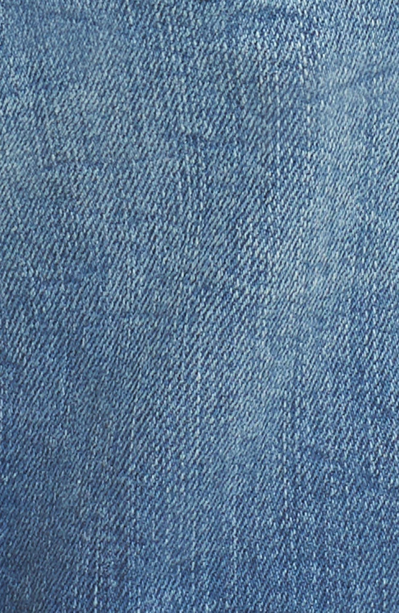 Pixie Denim Boyfriend Shorts,                             Alternate thumbnail 6, color,                             DISTRESSED VINTAGE