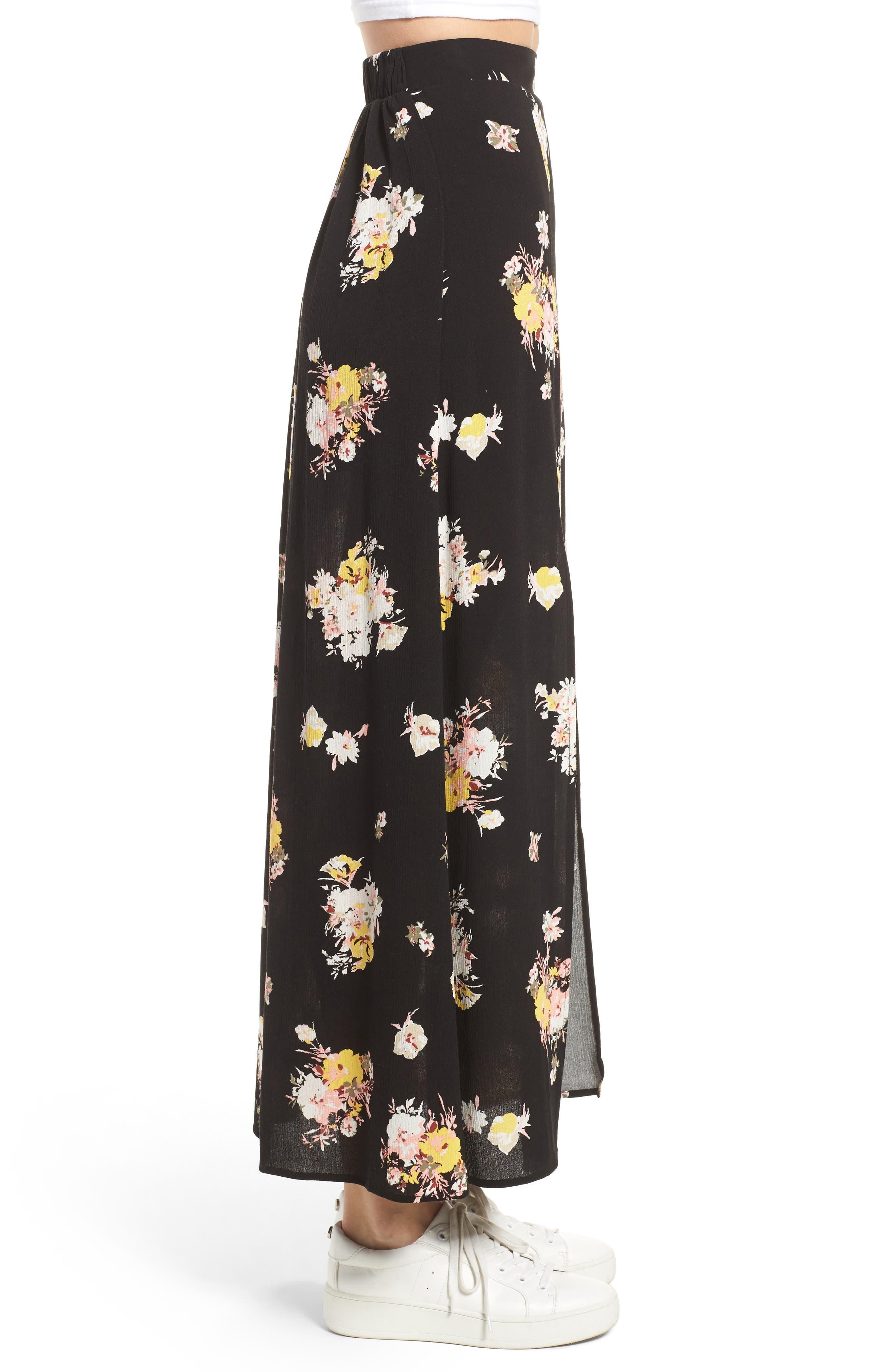 Coordinating Floral Maxi Skirt,                             Alternate thumbnail 3, color,                             002