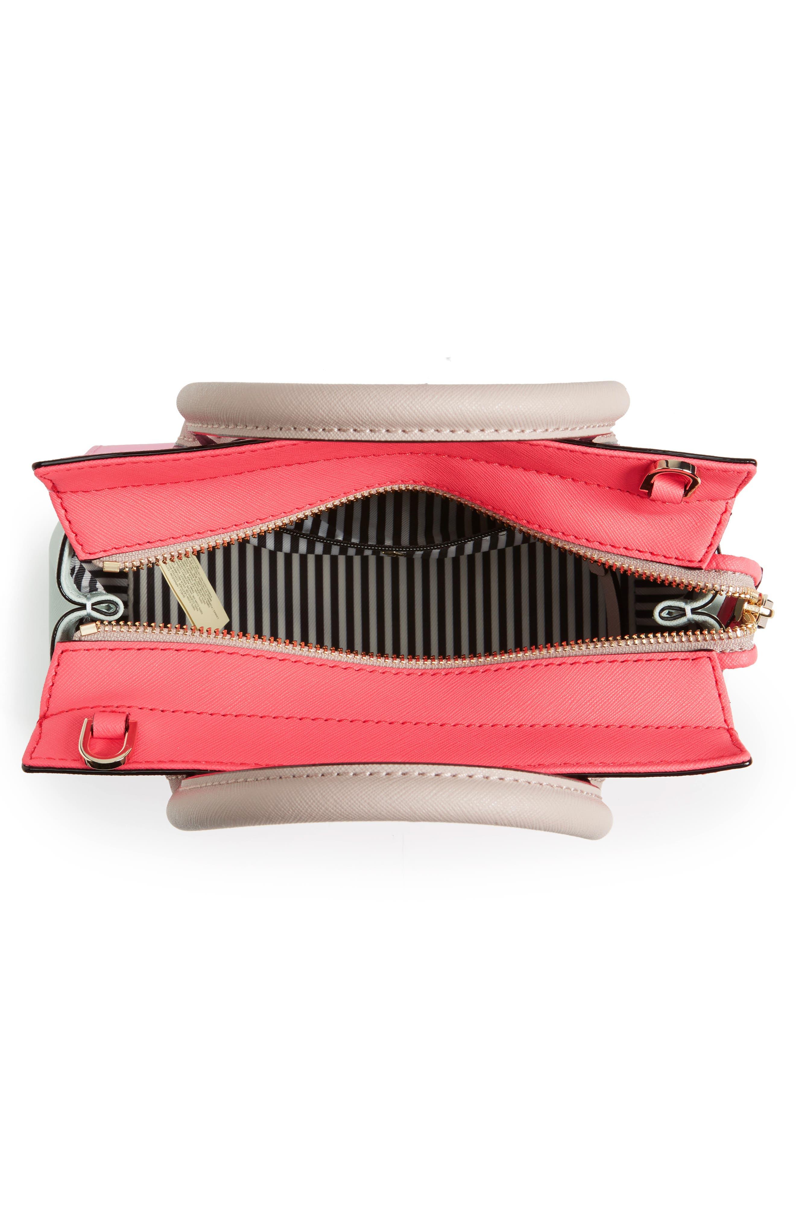 'cameron street - mini candace' leather satchel,                             Alternate thumbnail 4, color,                             690