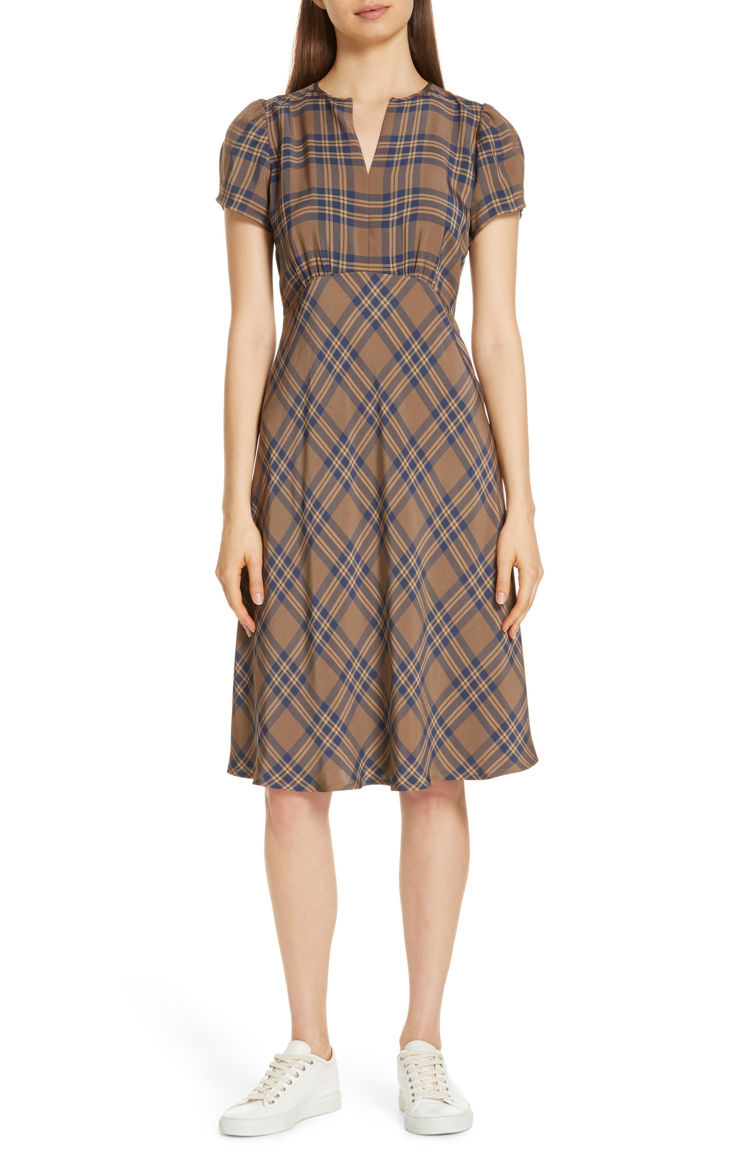 Check Dress,                             Main thumbnail 1, color,                             210