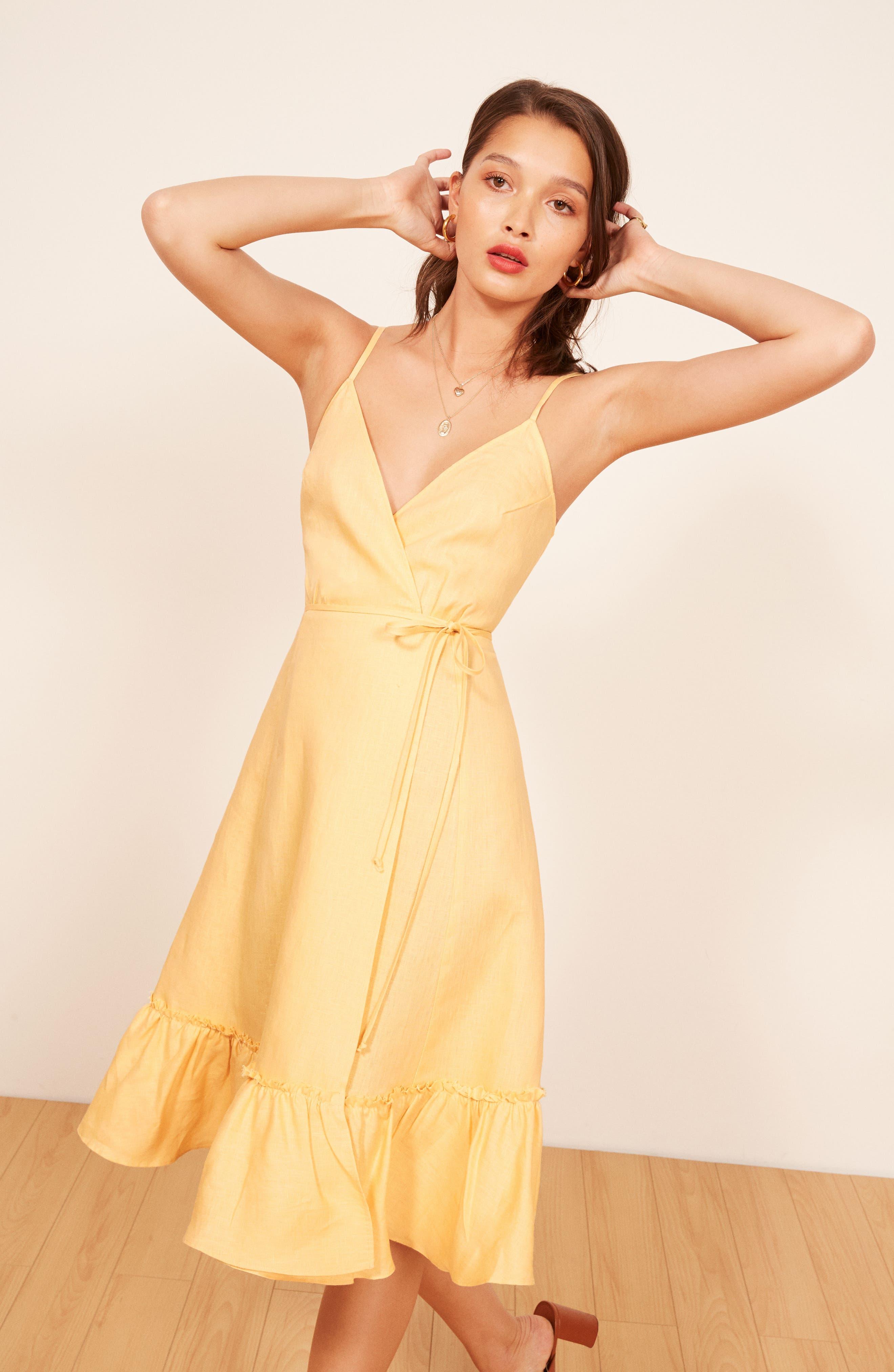 Fig Linen Wrap Dress,                             Alternate thumbnail 3, color,                             700