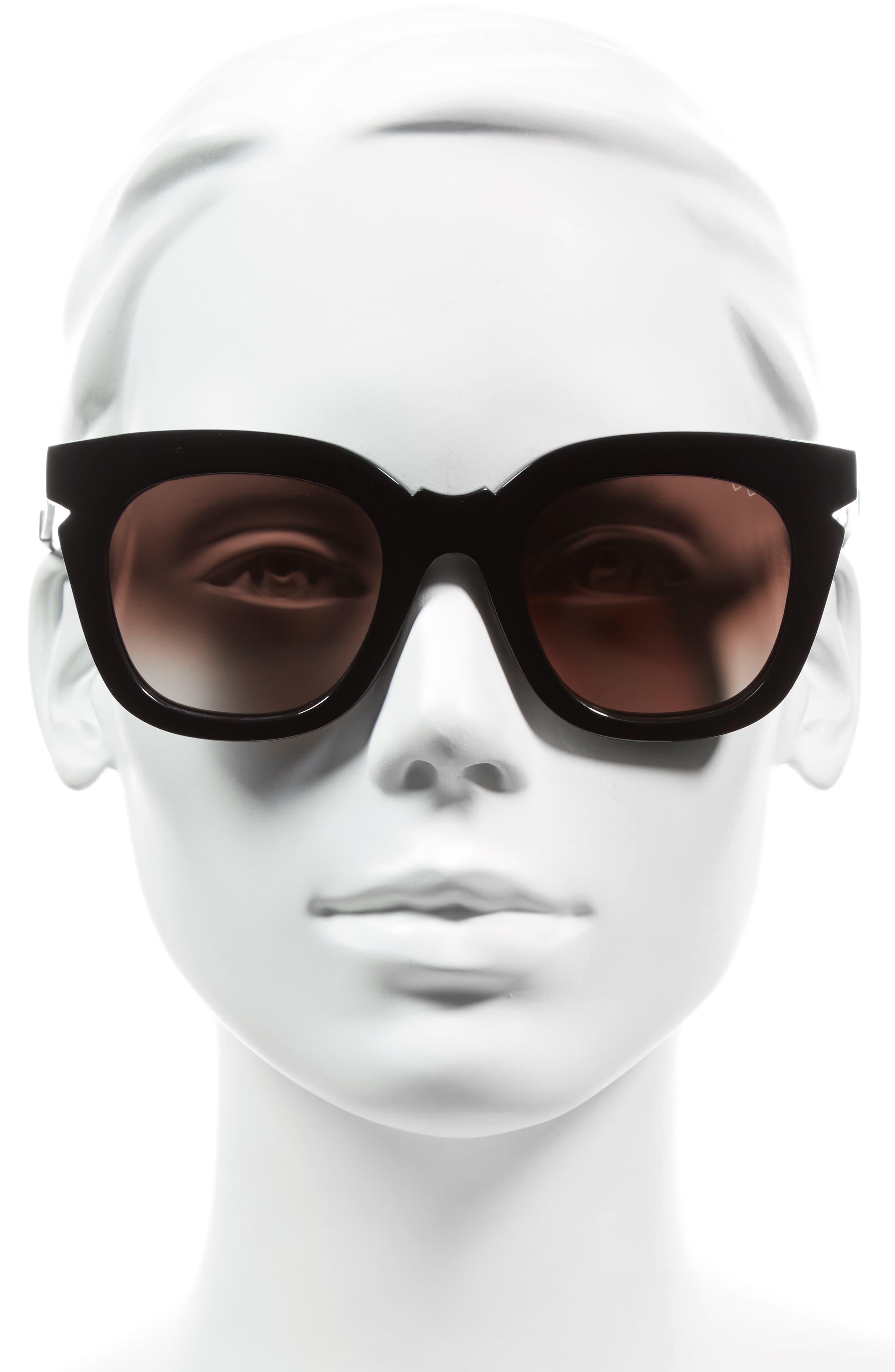 Pools & Palms 50mm Sunglasses,                             Alternate thumbnail 2, color,                             BLACK/ BROWN
