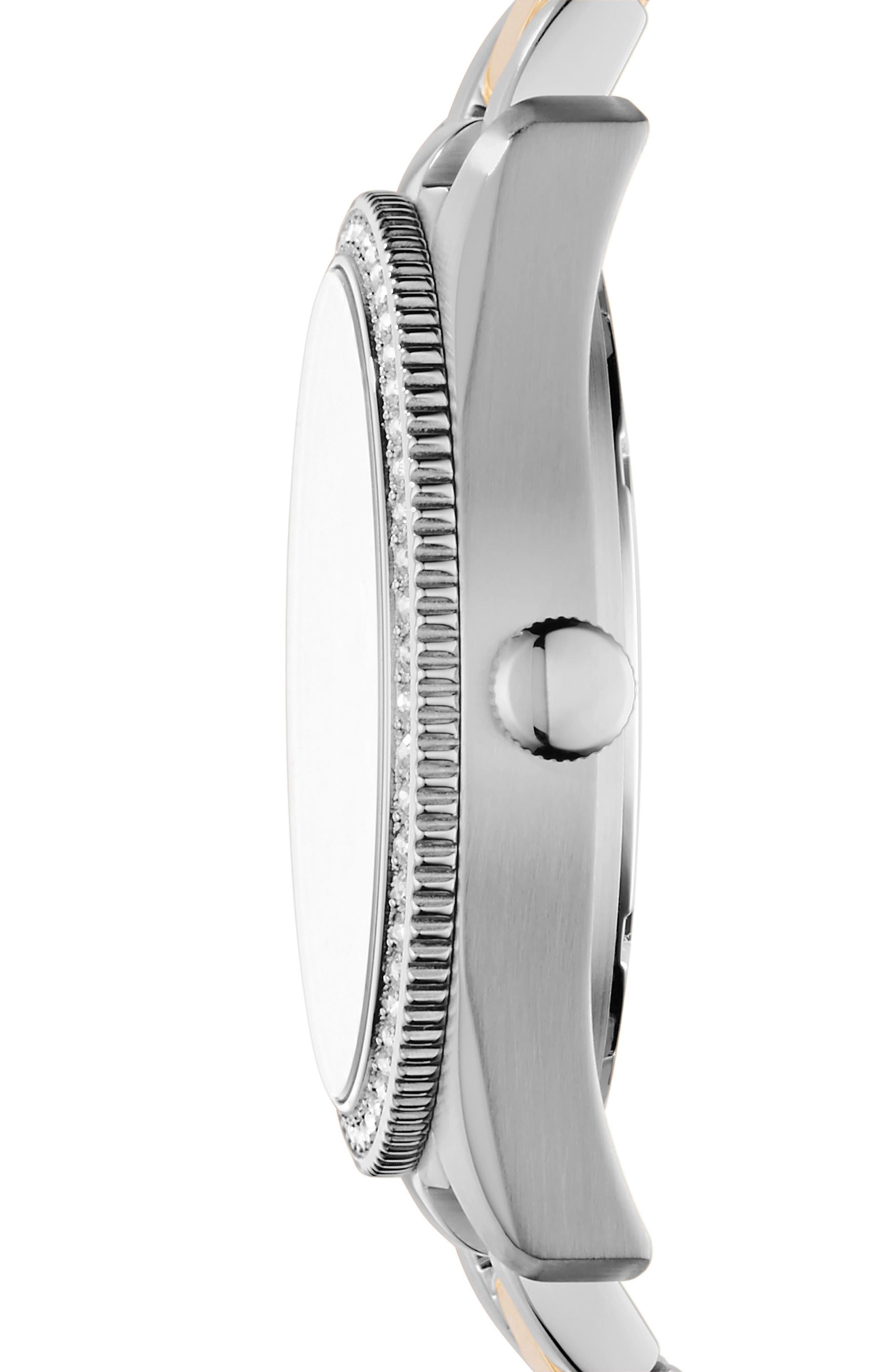 Scarlette Multifunction Crystal Bracelet Watch, 38mm,                             Alternate thumbnail 2, color,                             040