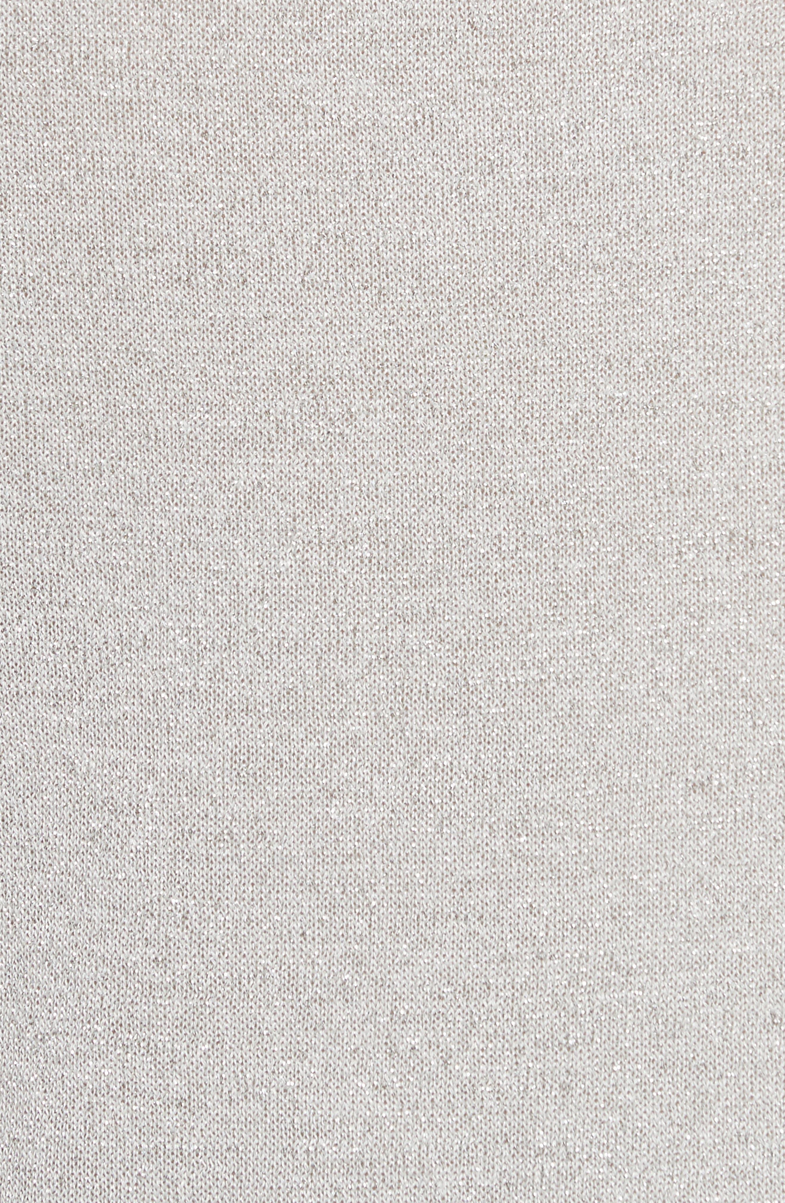 metallic knot sweater,                             Alternate thumbnail 5, color,                             044